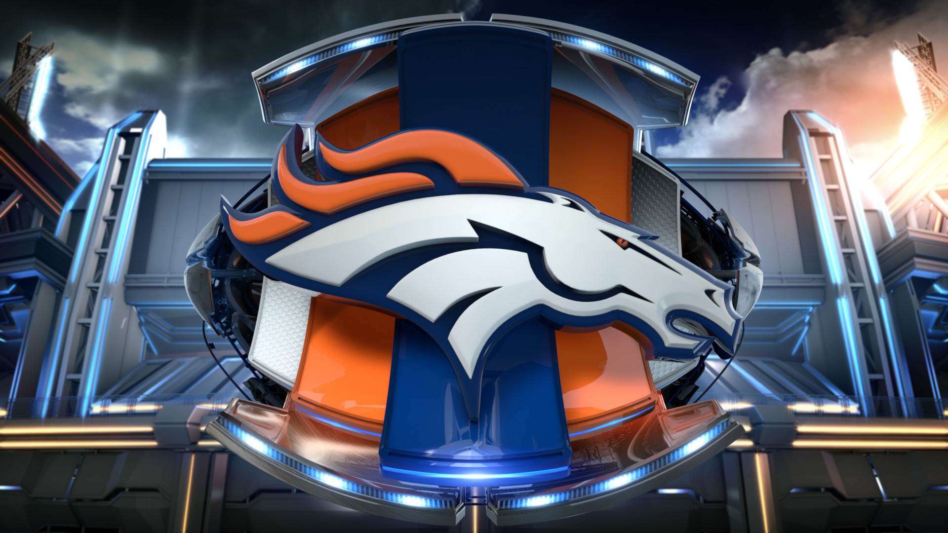 Denver Broncos 3D Logo Wallpaper HD.