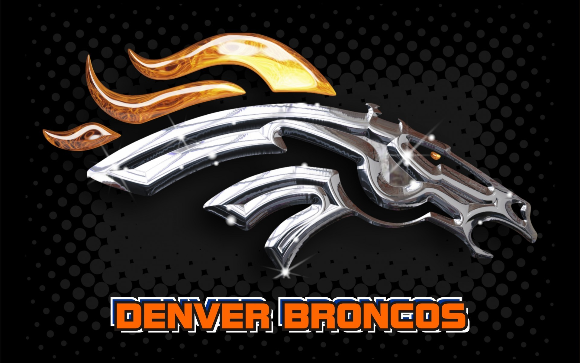 3D Logo Denver Broncos Wallpaper.