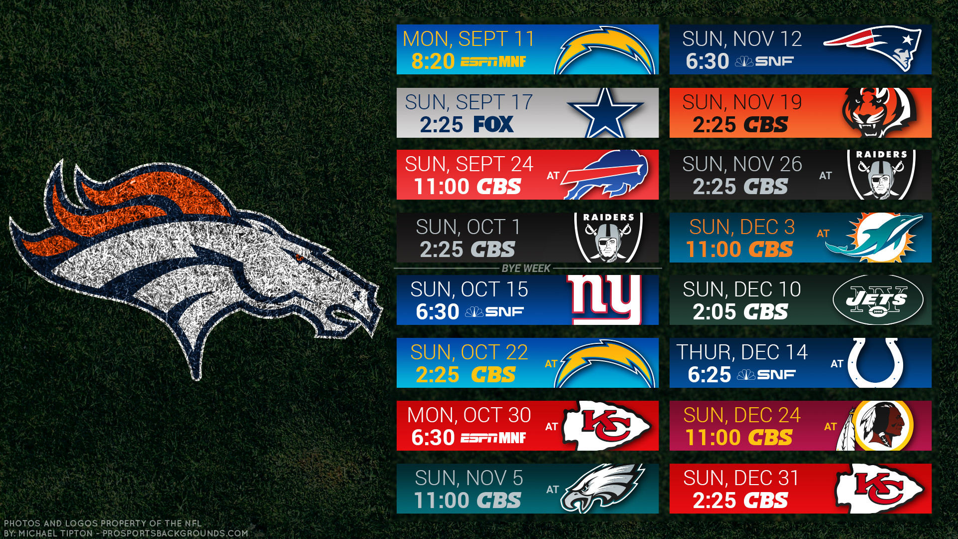 Denver Broncos 2017 schedule turf football logo wallpaper free pc desktop  computer …