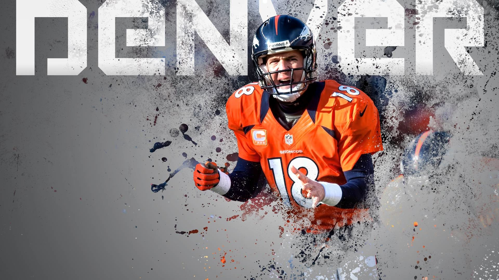 Denver Broncos Wallpaper HD Player Number 18.