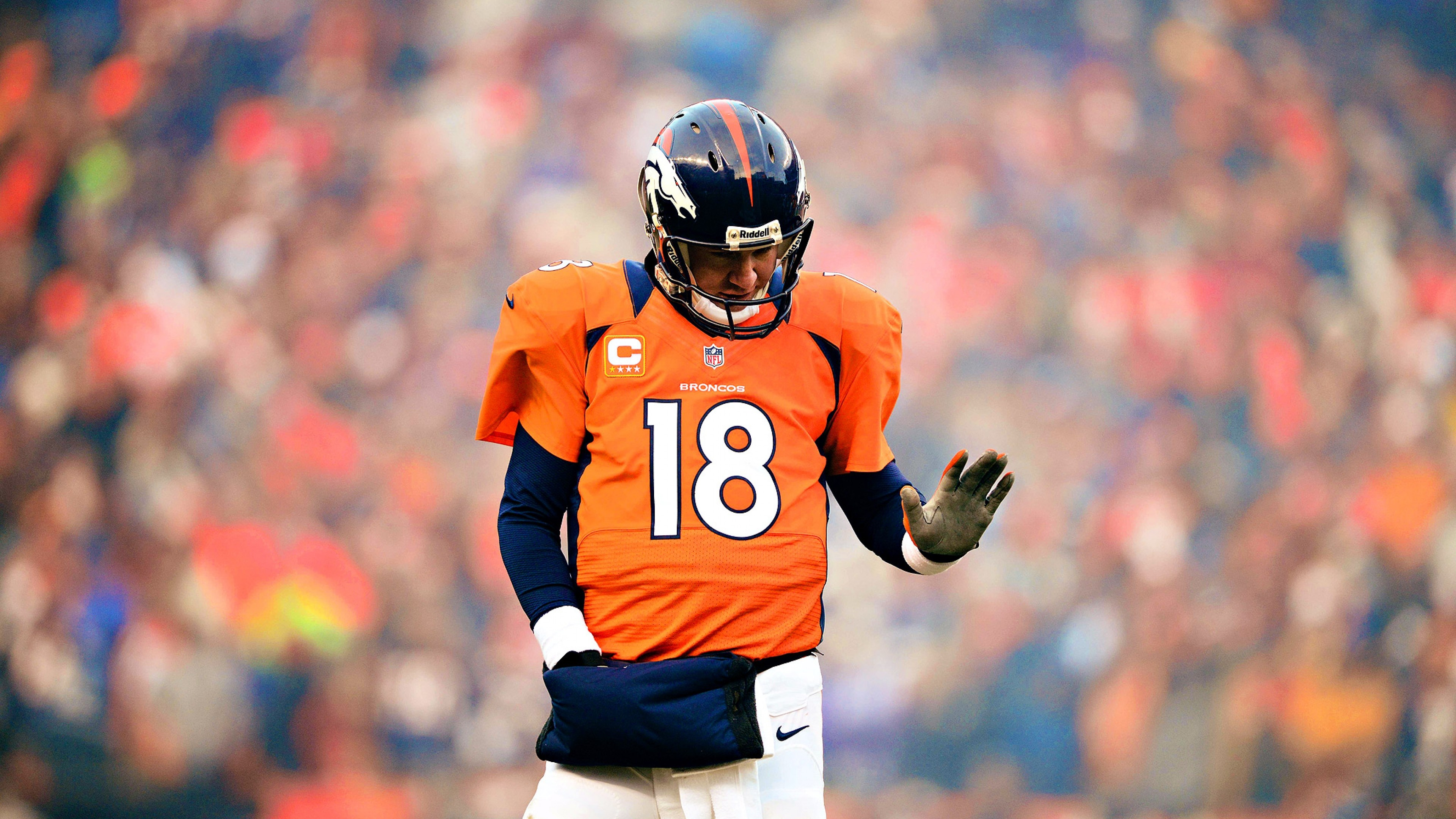 Preview wallpaper peyton manning, denver broncos, form 3840×2160