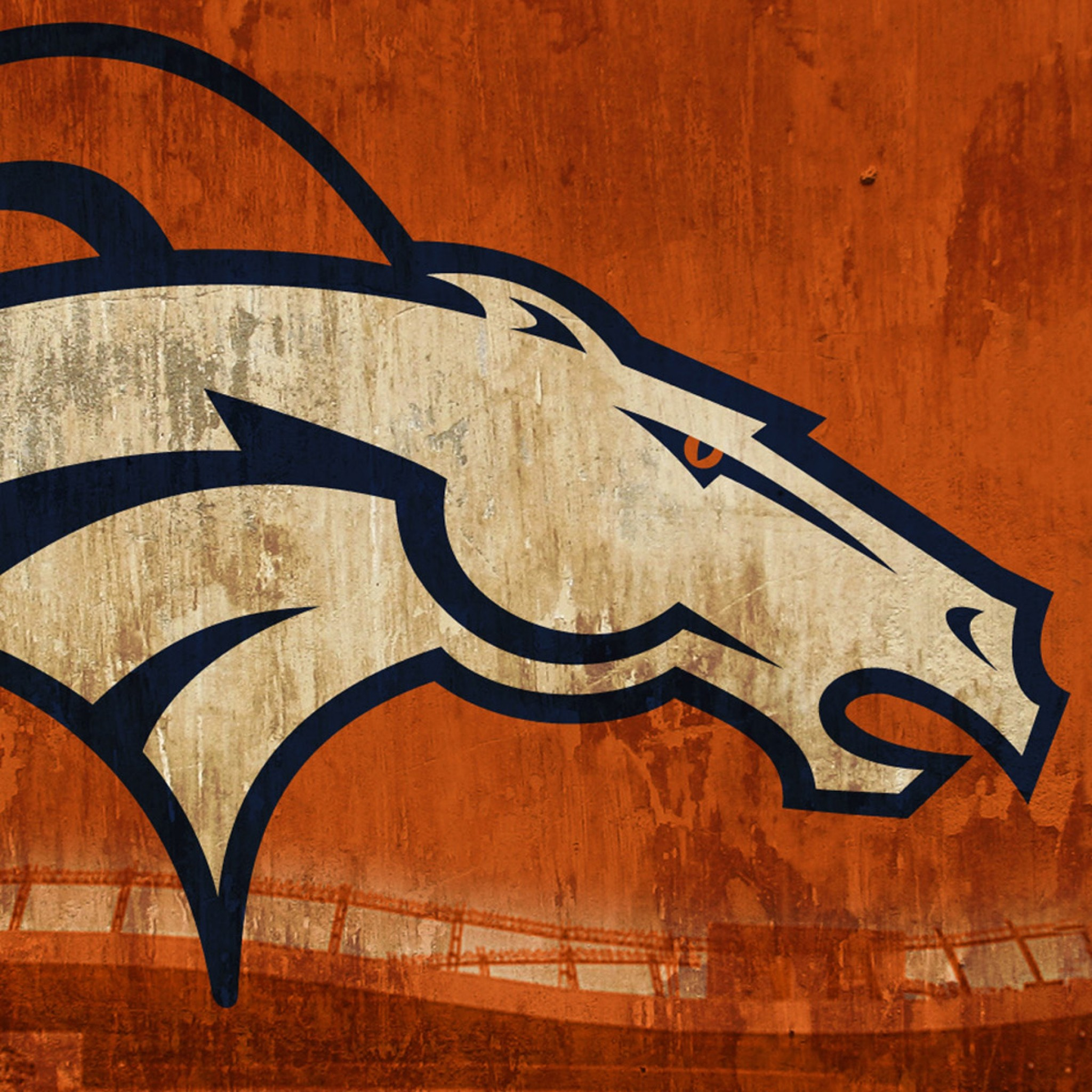 Preview wallpaper denver broncos, football, logo 2048×2048