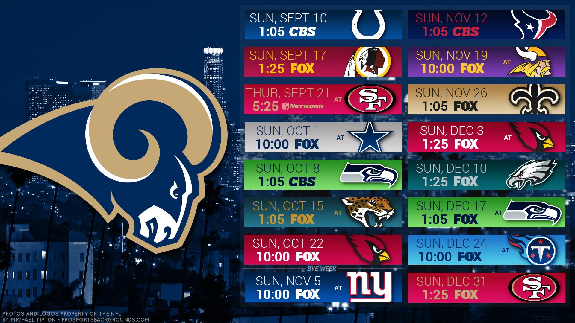 Los Angeles Rams 2017 schedule city football logo wallpaper free pc desktop  computer …