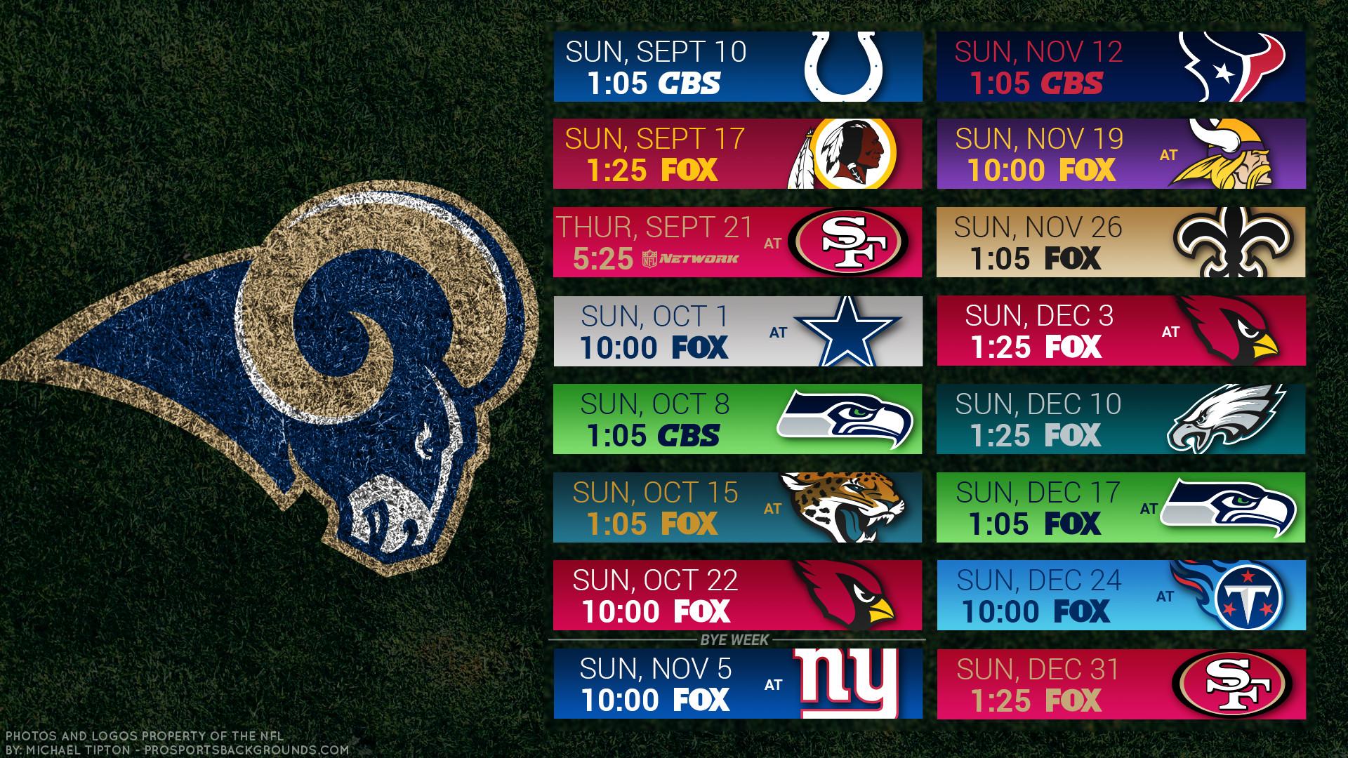 Los Angeles Rams 2017 schedule turf football logo wallpaper free pc desktop  computer …