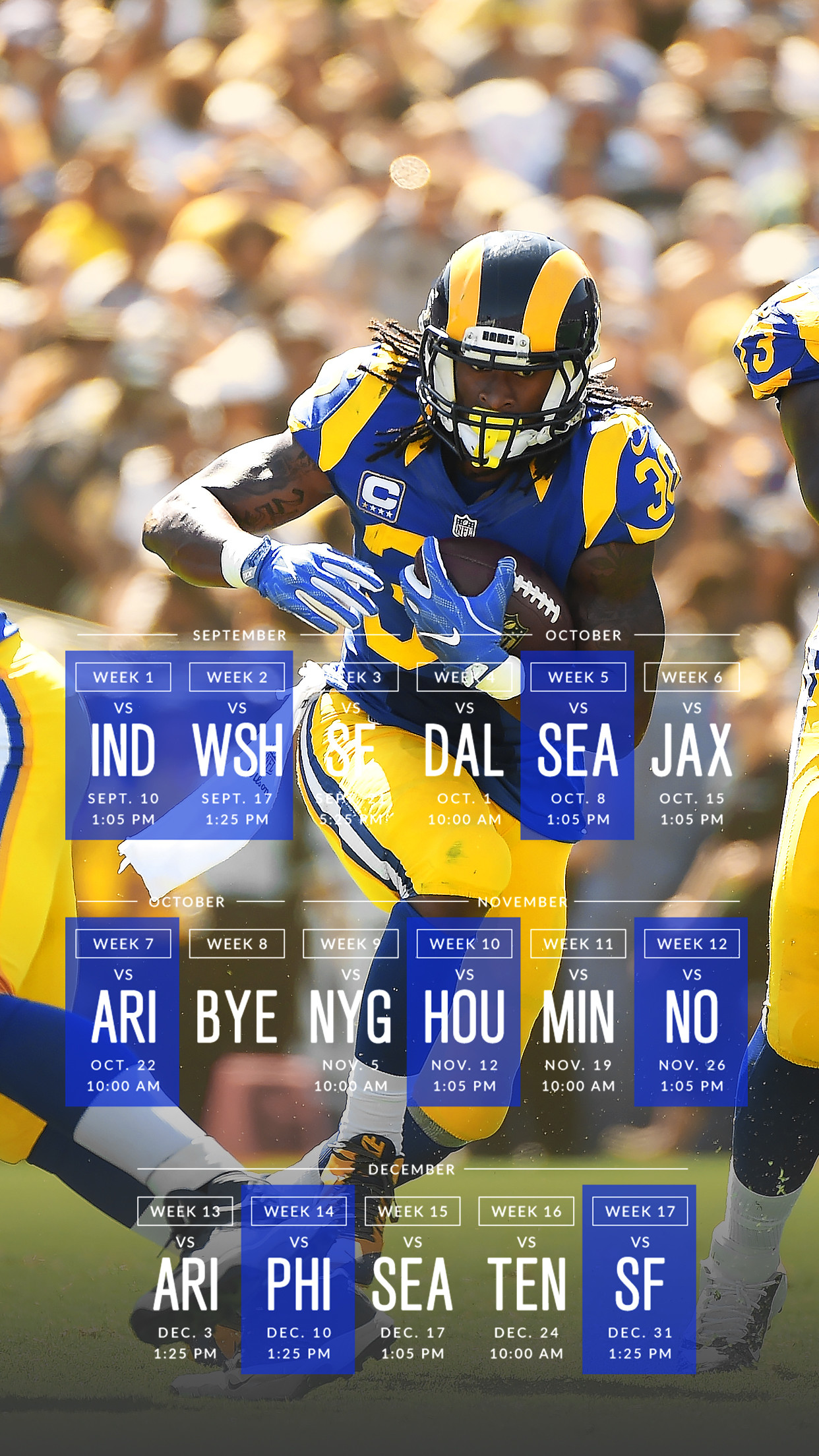 Get the lockscreen → and the wallpaper! →. 2017 Los Angeles Rams …