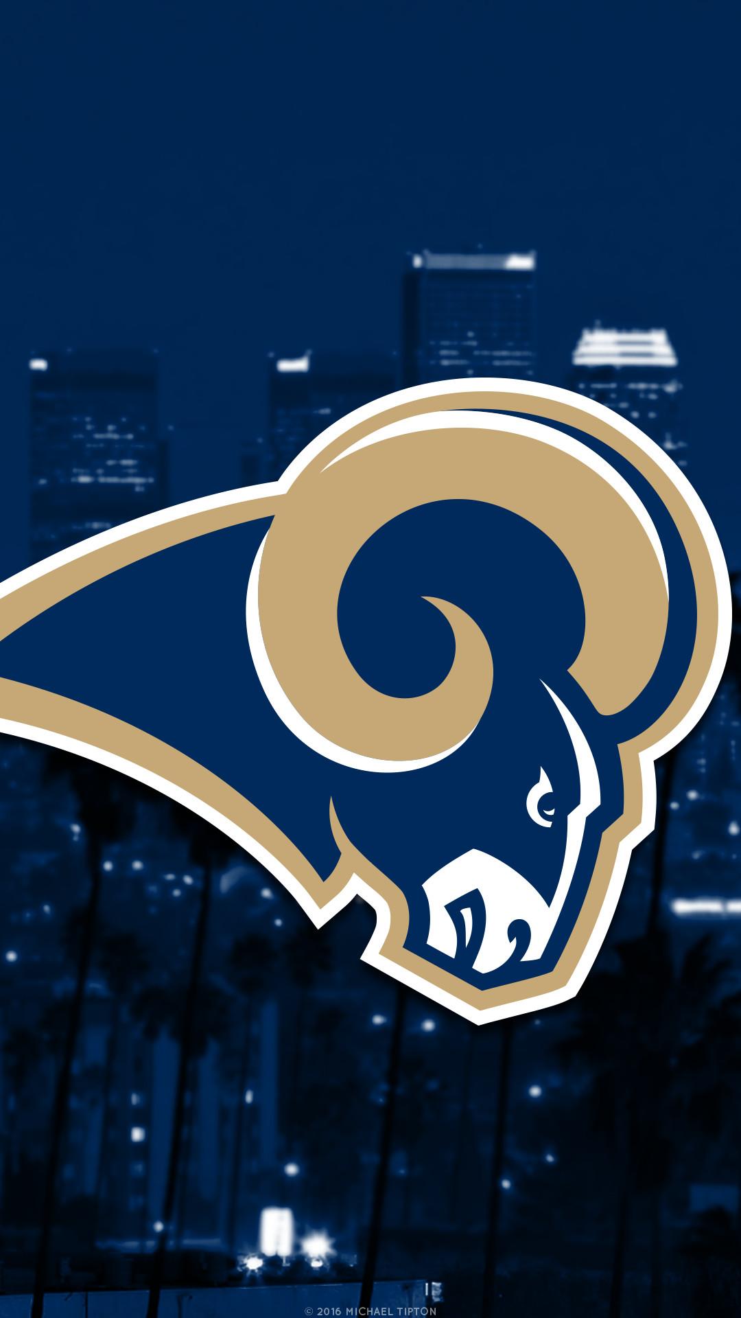 … Los Angeles Rams city 2017 logo wallpaper free iphone 5, 6, 7, galaxy
