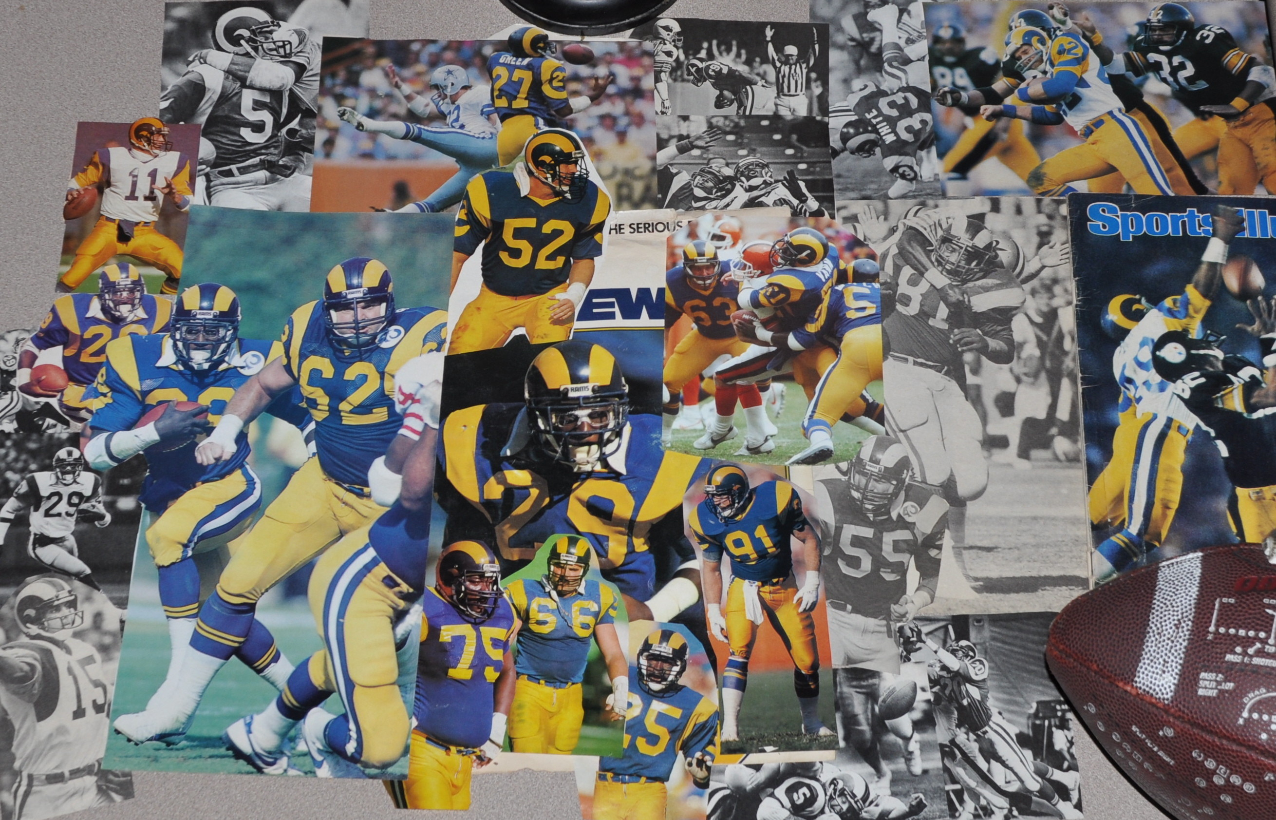 In my youth I used to clip Rams pics and use them for wallpaper in my