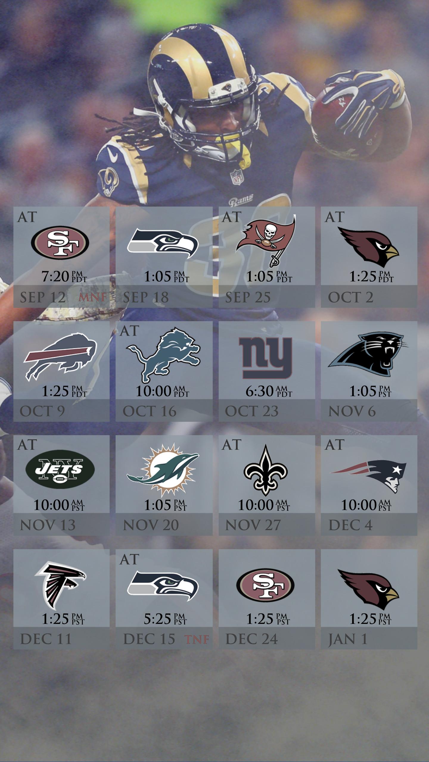 Rams Schedule Mobile Wallpaper (2016) …