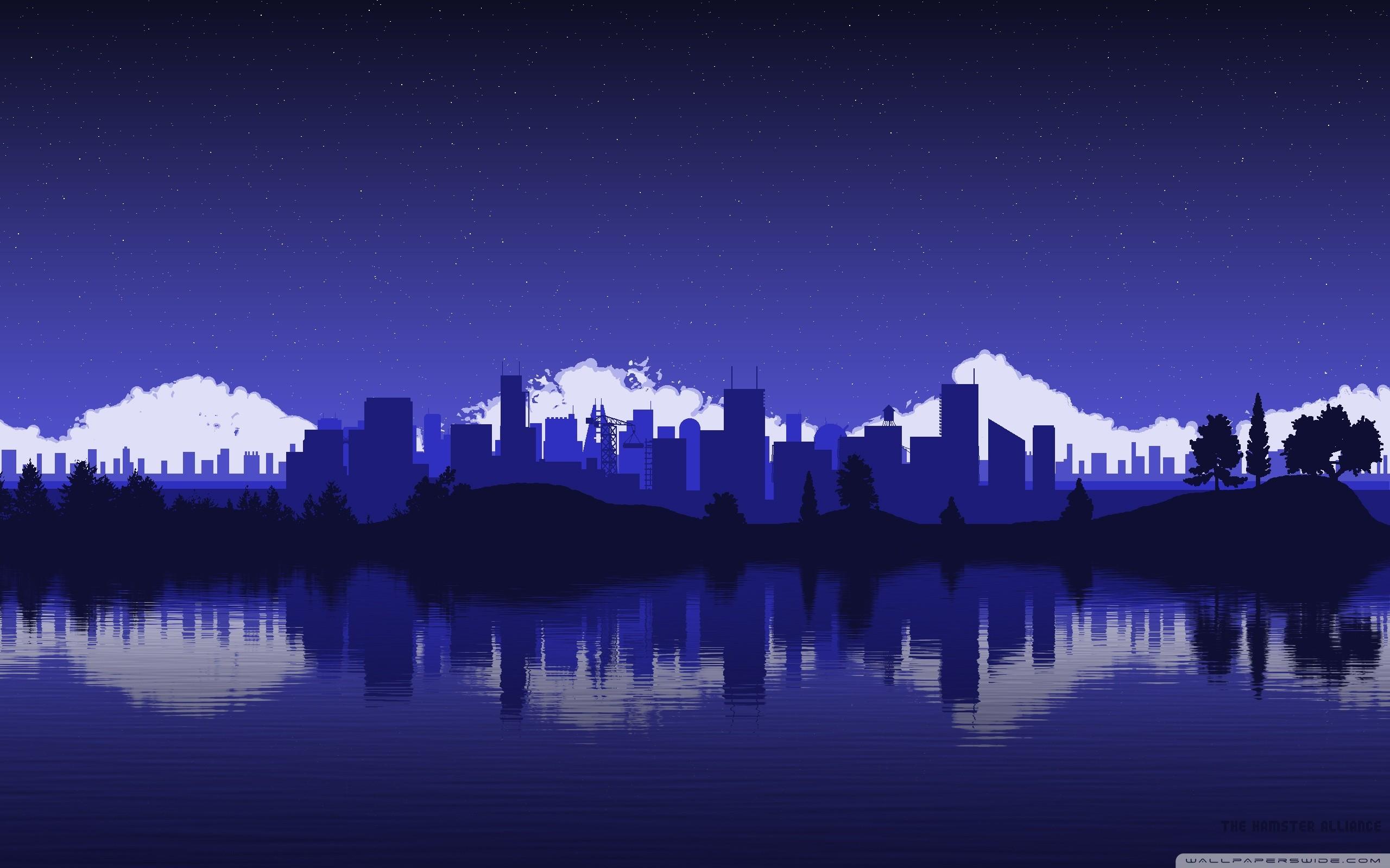 … city skyline silhouette hd desktop wallpaper high definition …
