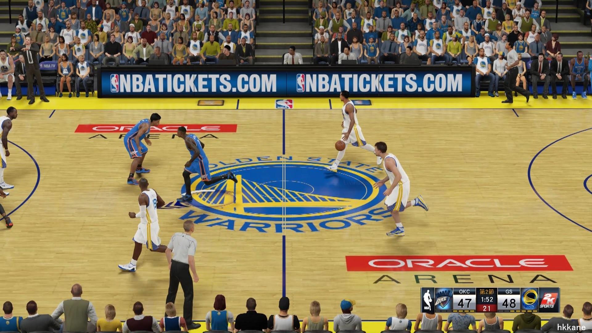 NBA 2K15 Oklahoma City Thunder Vs Golden State Warriors 18-12-2014 – YouTube