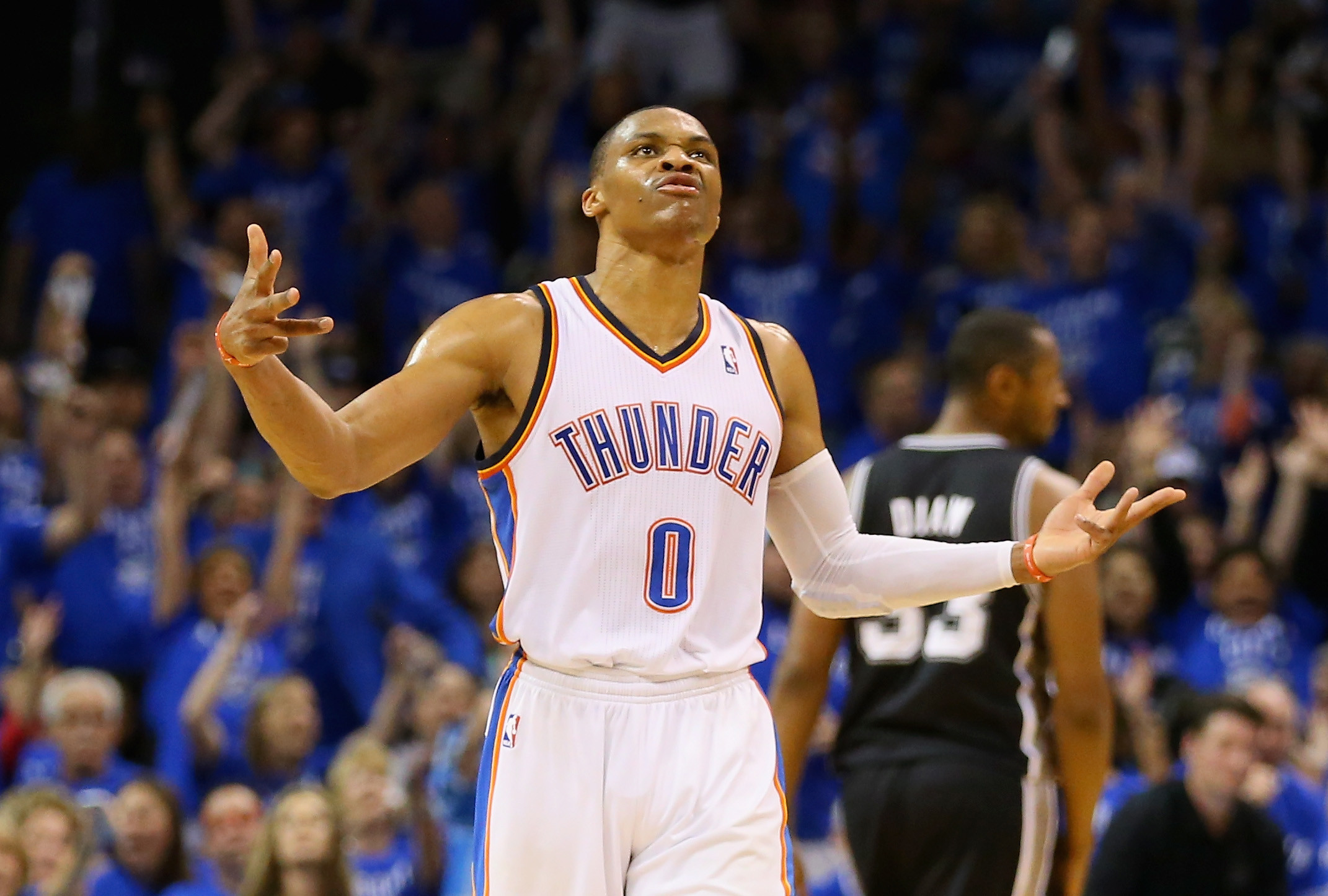 russell westbrook | There goes Russell Westbrook, turning an easy pass into  a turnover.