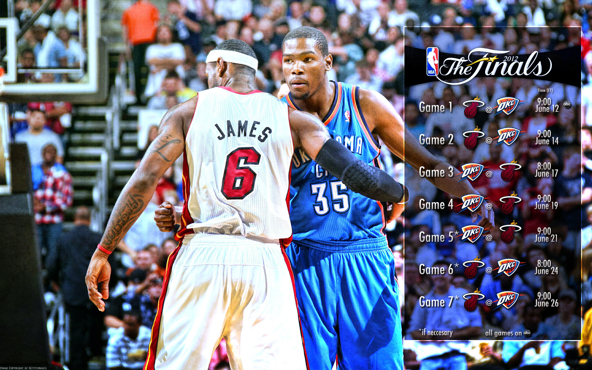 2012 NBA Finals Schedule 1920×1200 Wallpaper