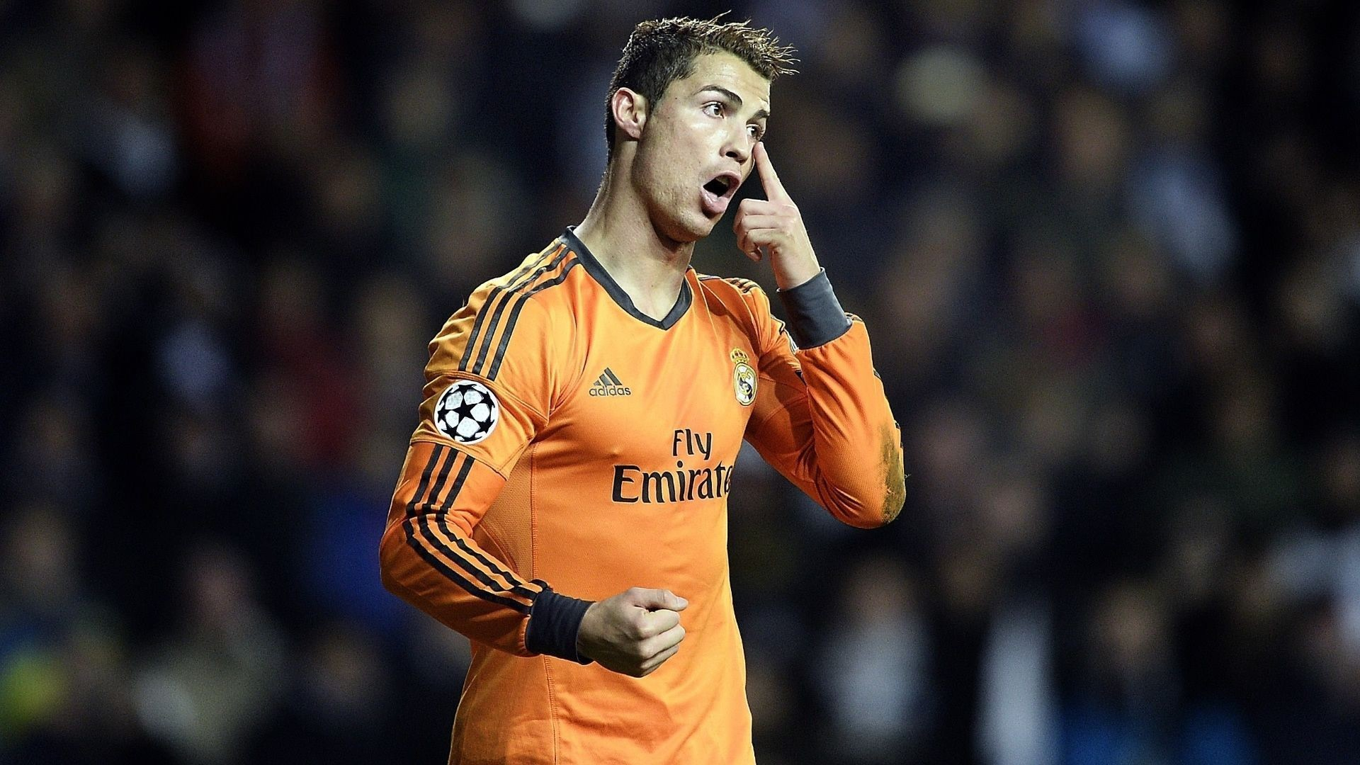 Cristiano Ronaldo 2014 Orange jersey wallpaper – Cristiano Ronaldo .