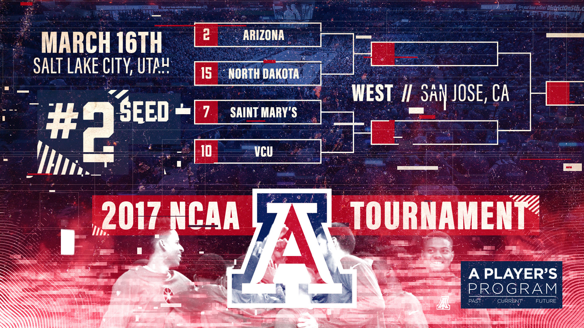 Pac-12 Champion Cats Earn No. 2 Seed in 2017 NCAA Tournament
