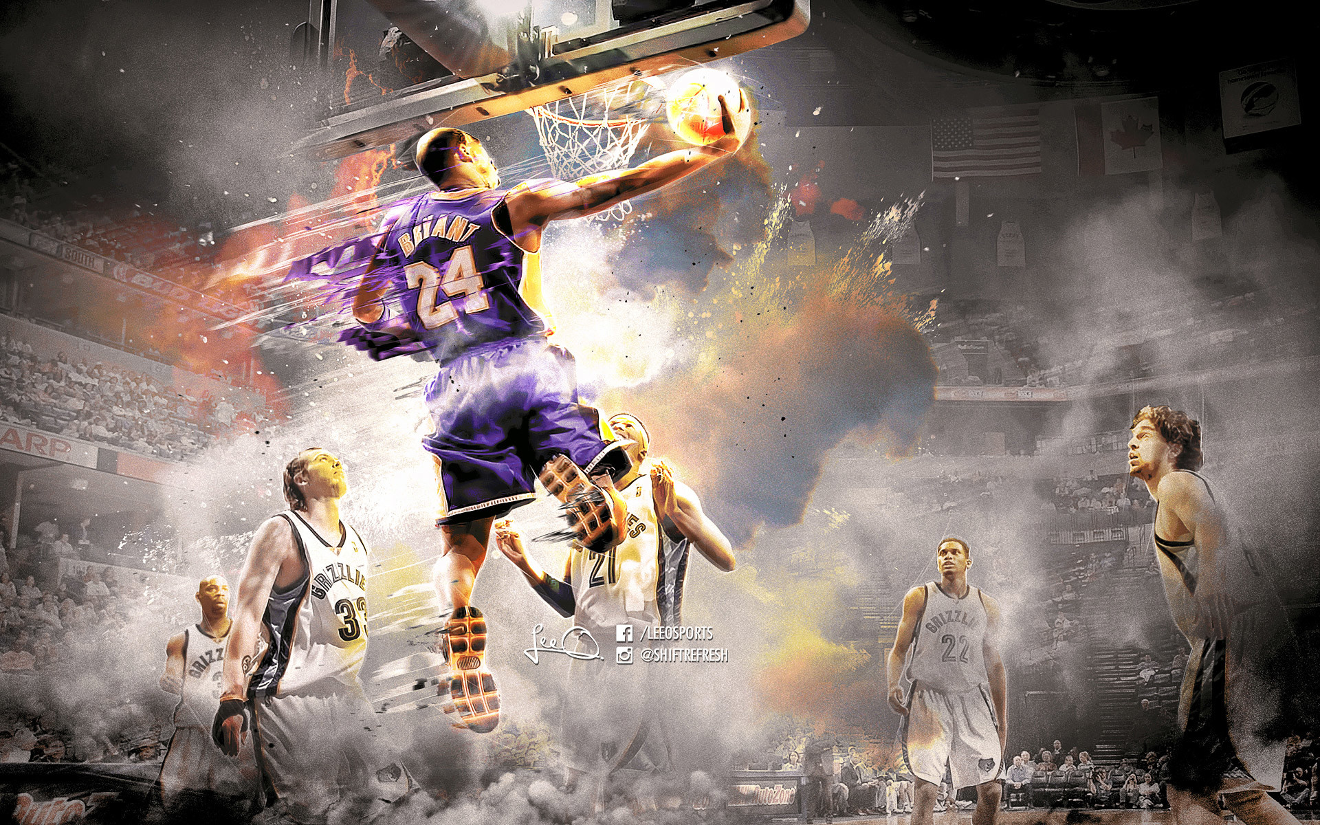 Kobe Bryant 2016 Grizzlies Wallpaper