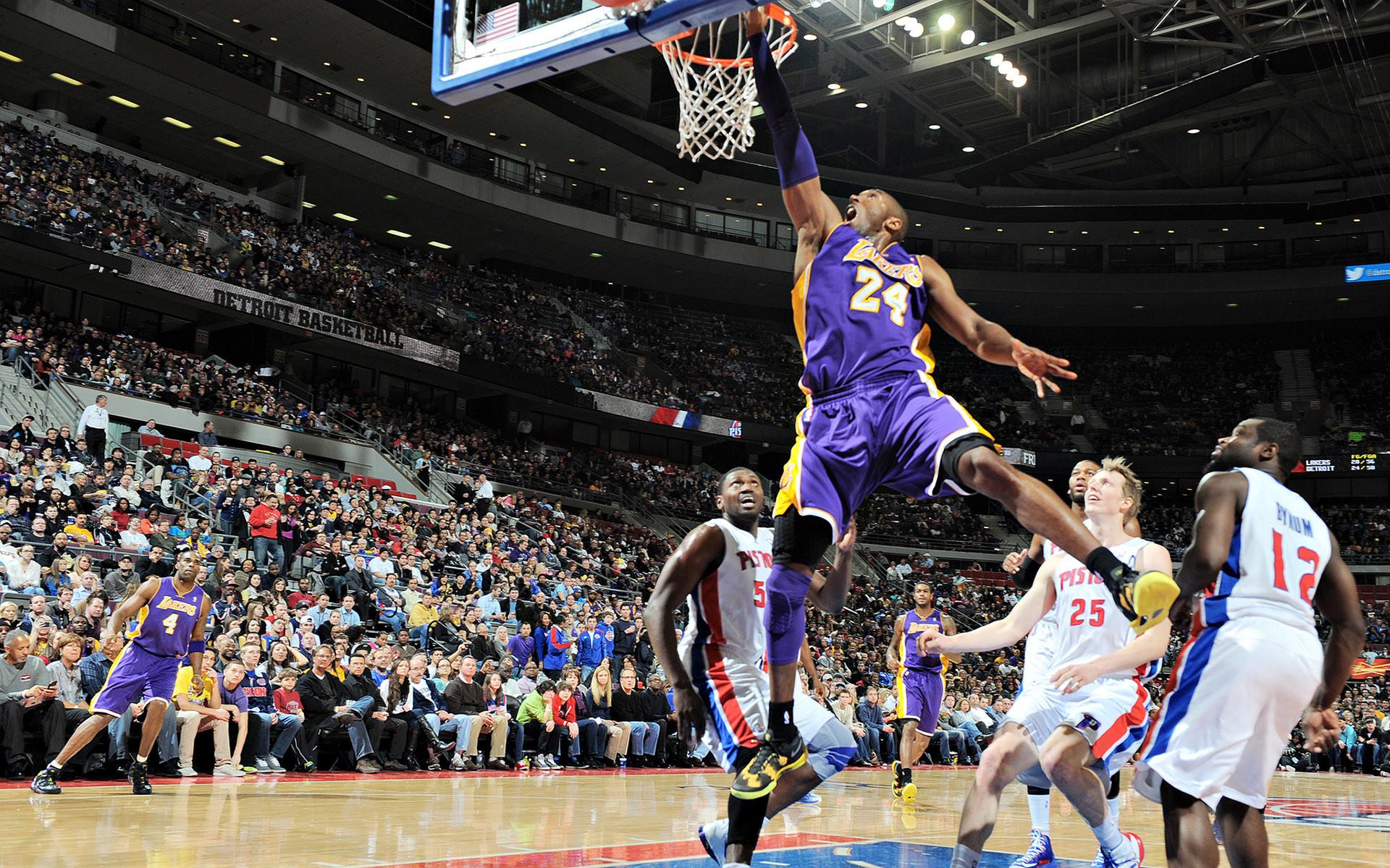 Wallpaper of Kobe Bryant dunk