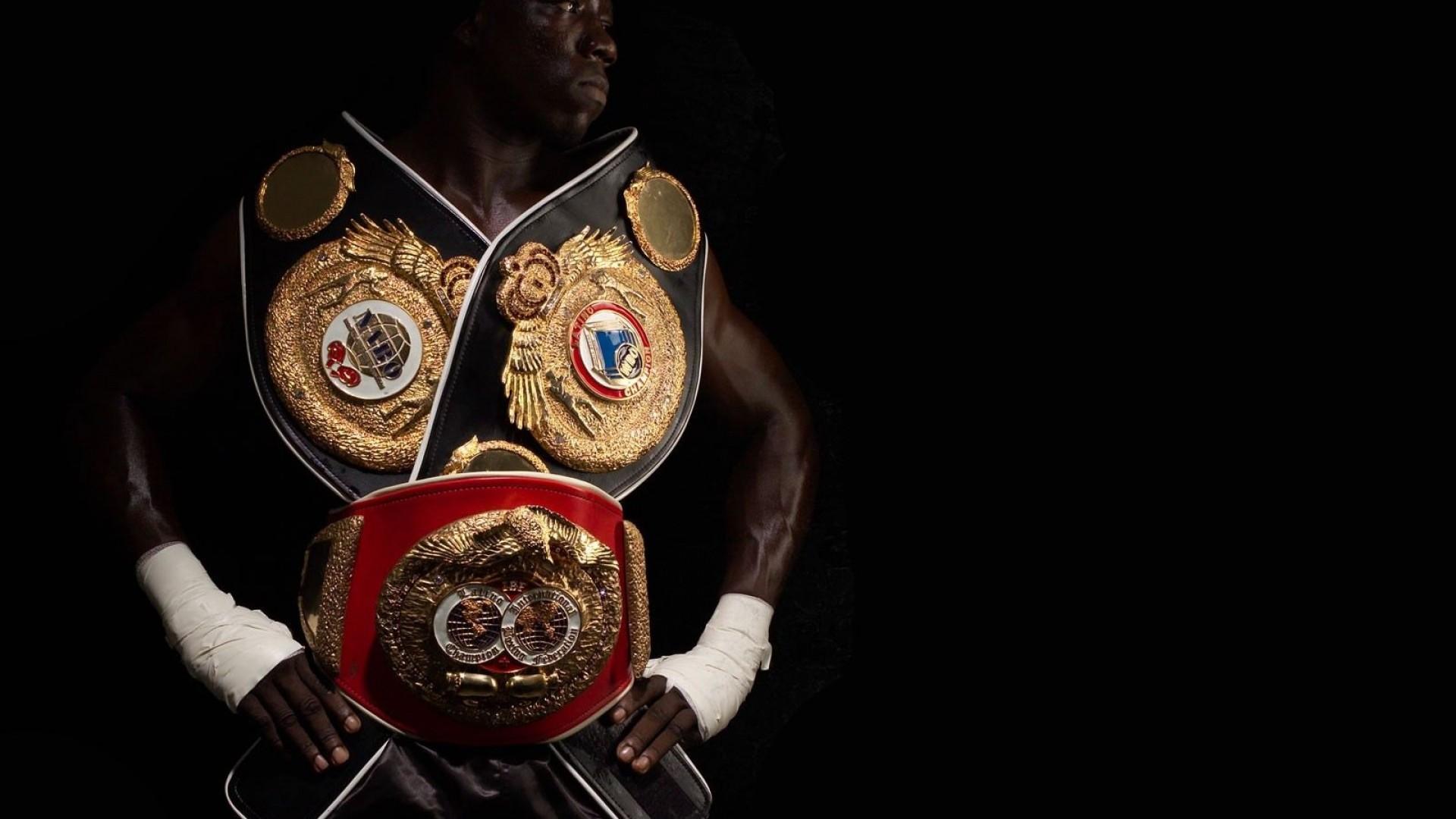 Preview wallpaper boxing, champion, belts, bandage 1920×1080