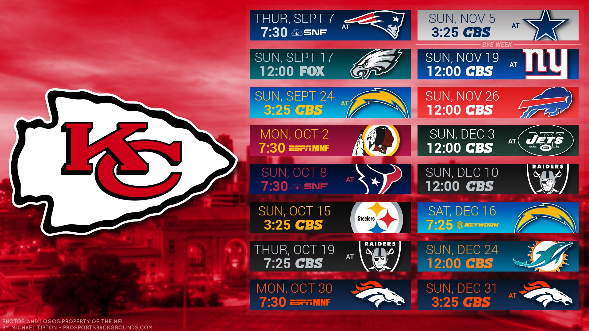 Kansas City Chiefs 2017 schedule city football logo wallpaper free pc  desktop computer …