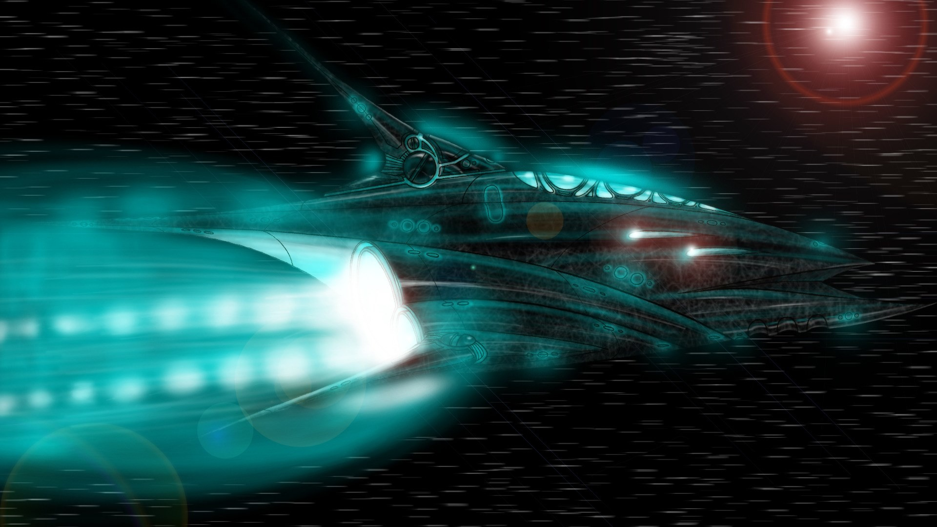 High Resolution Wallpaper spaceship