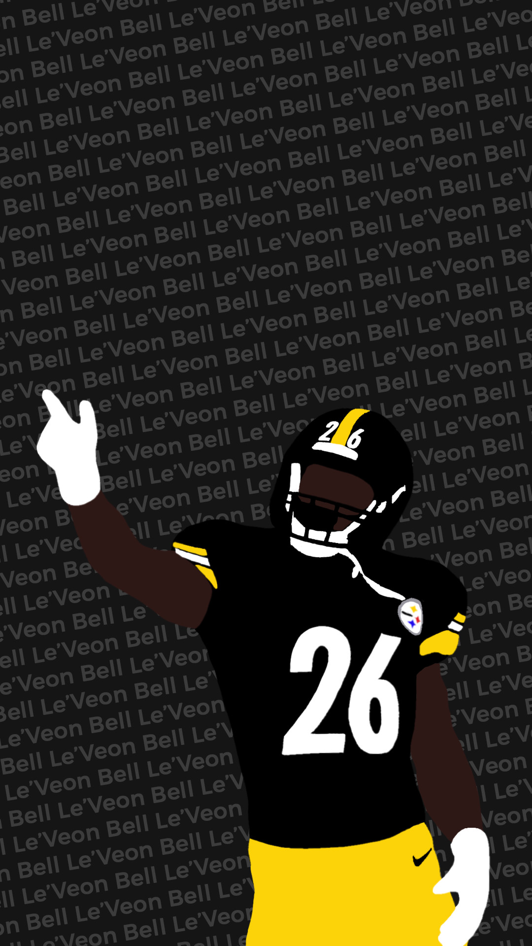 I made another wallpaper, this one with Le'Veon Bell …