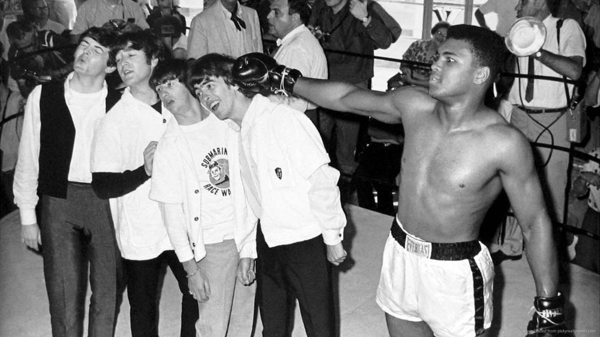 The Beatles With Muhammad Ali for 1920×1080
