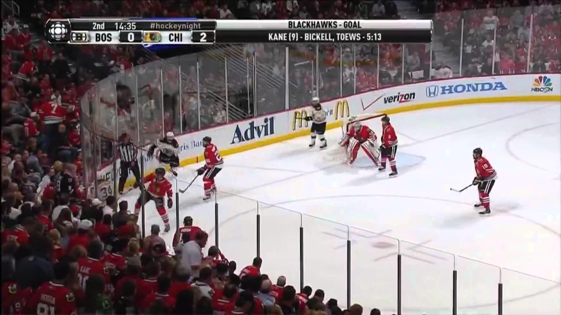 Patrick Kane (9) Goal: Game #5 SCF – Boston Bruins 0 Chicago Blackhawks 2.  June 22nd 2013. (HD)
