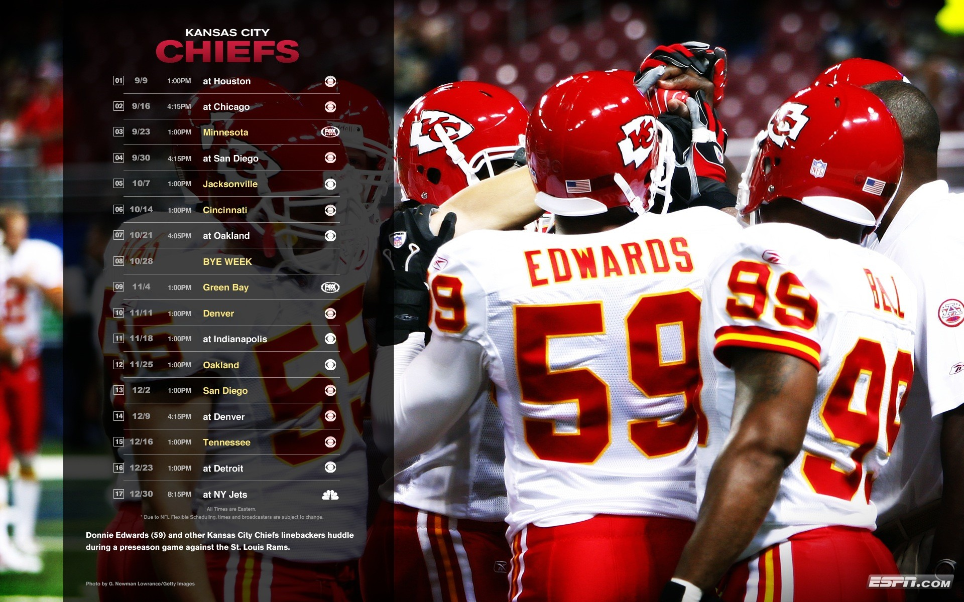 screensaver . Giants . 47 Washington Redskins . 48 Kansas City Chiefs .