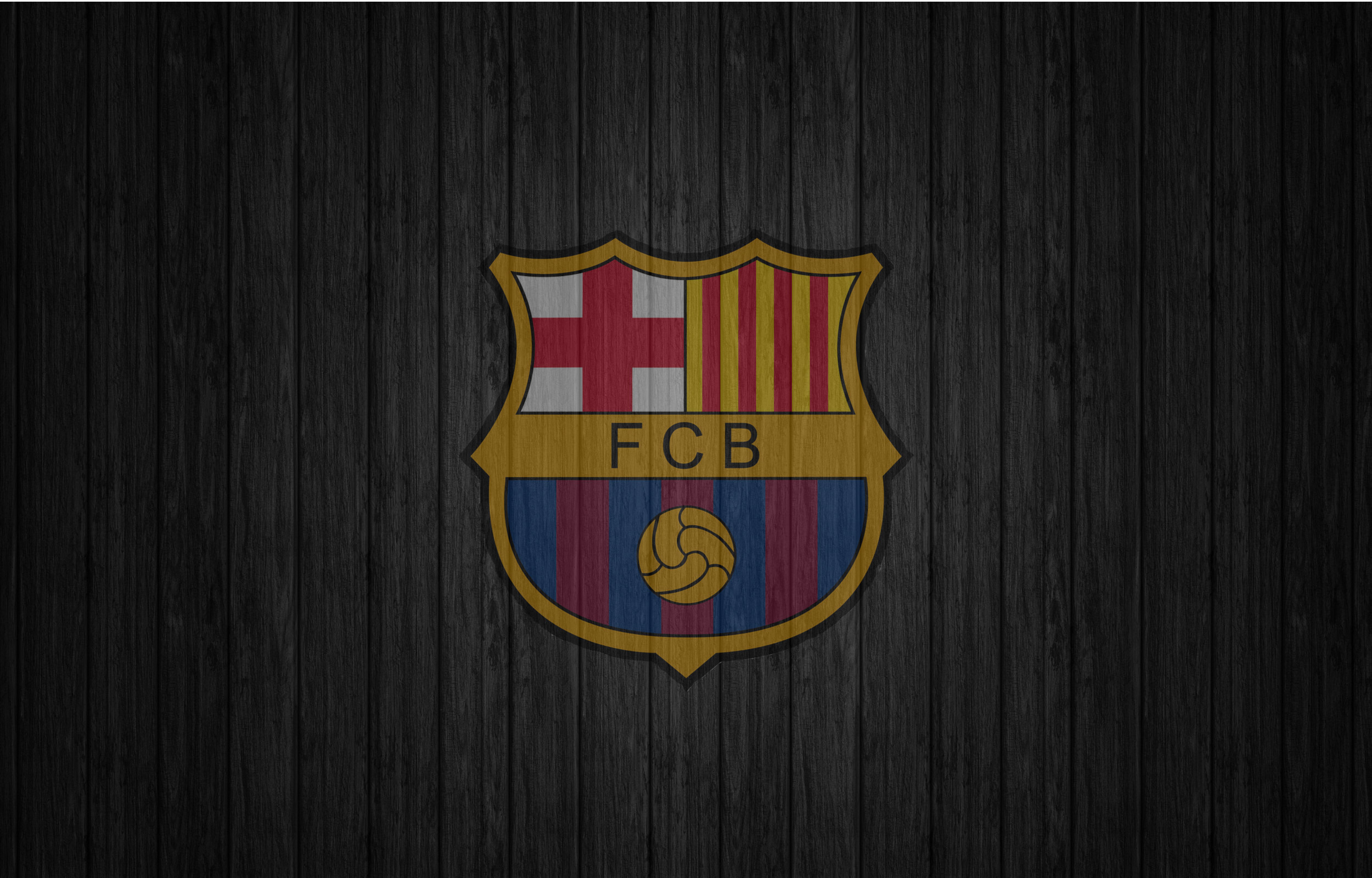 FC Barcelona Wallpaper 112 Dark Wood Logo Backgrounds