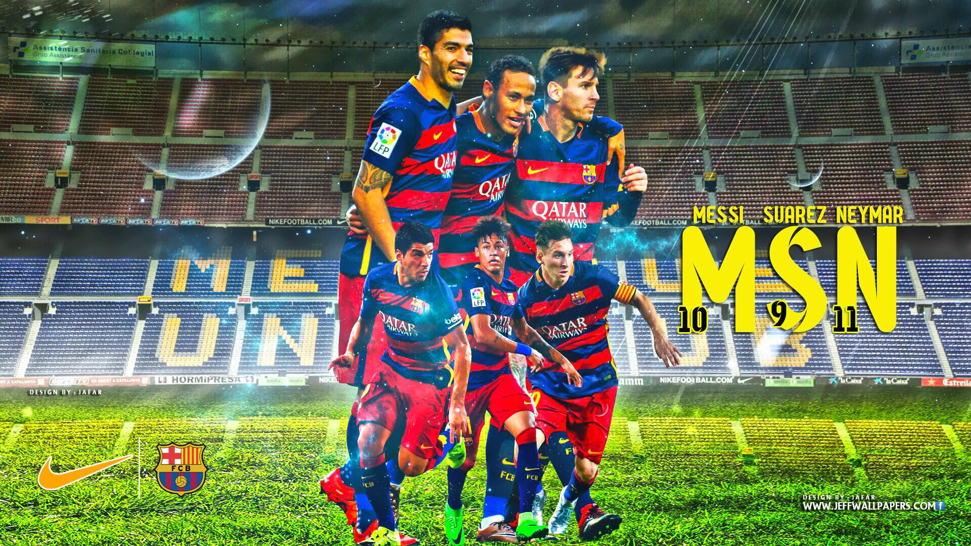 MSN FC BARCELONA WALLPAPER.