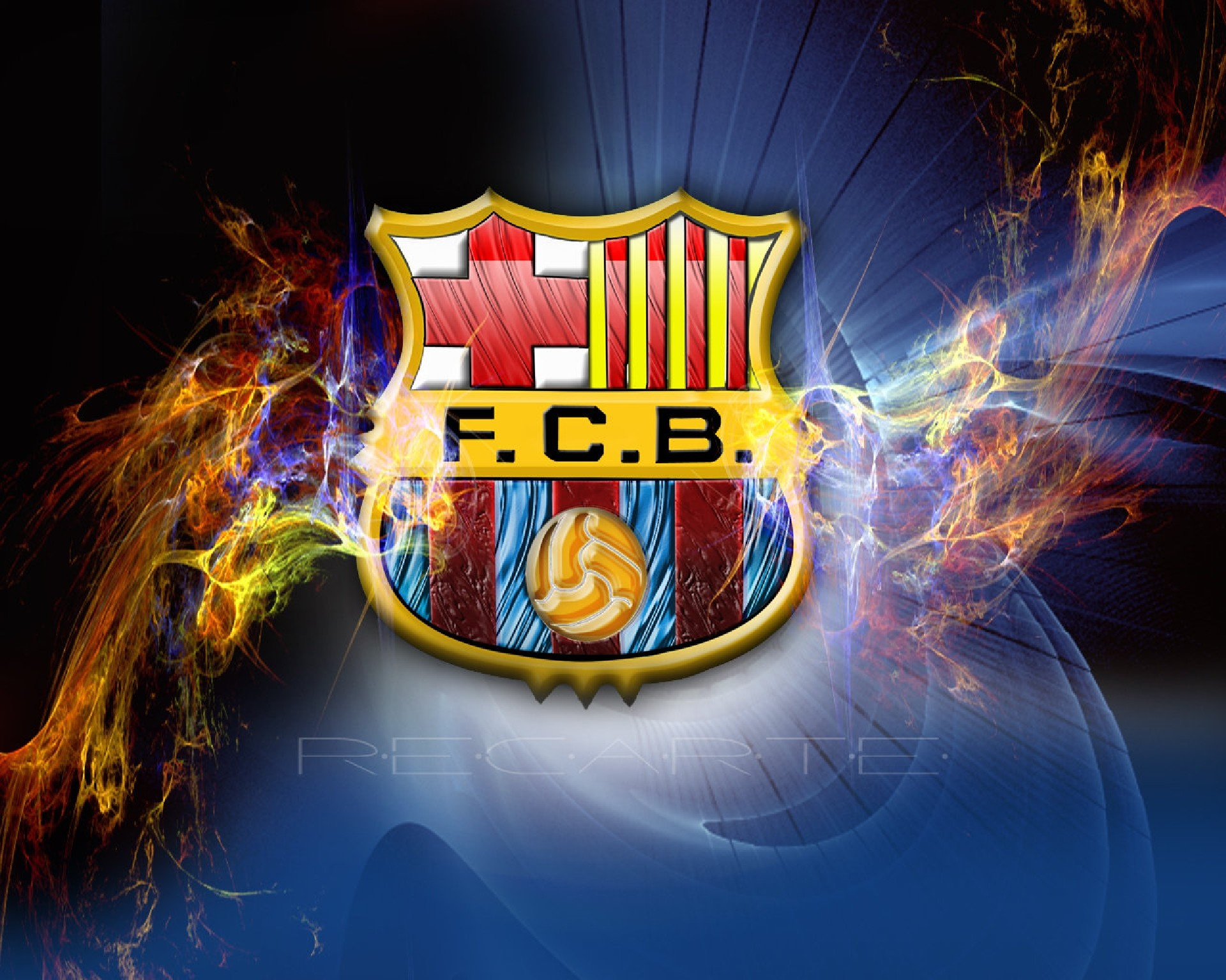 HD Wallpaper and background photos of FC Barcelona Logo Wallpaper for fans  of FC Barcelona images.