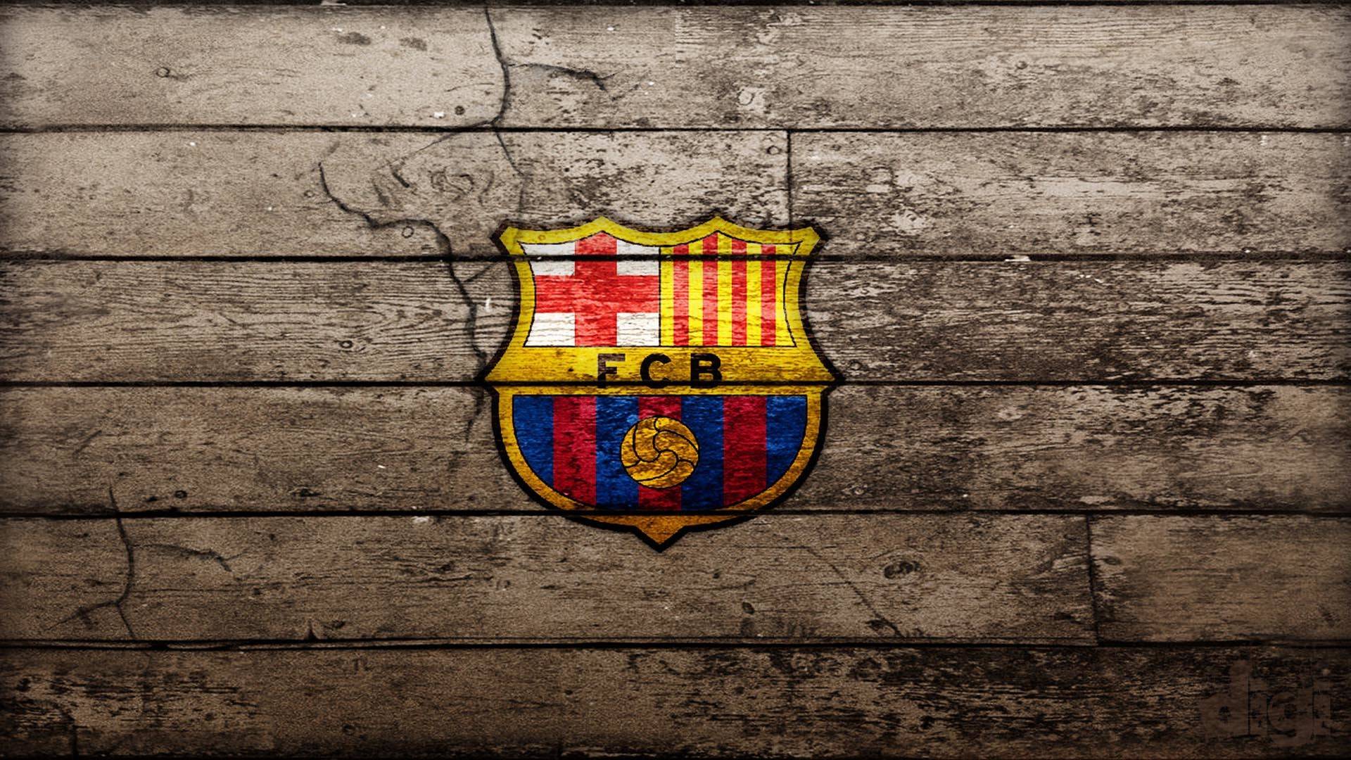 Wood FC Barcelona Wallpaper