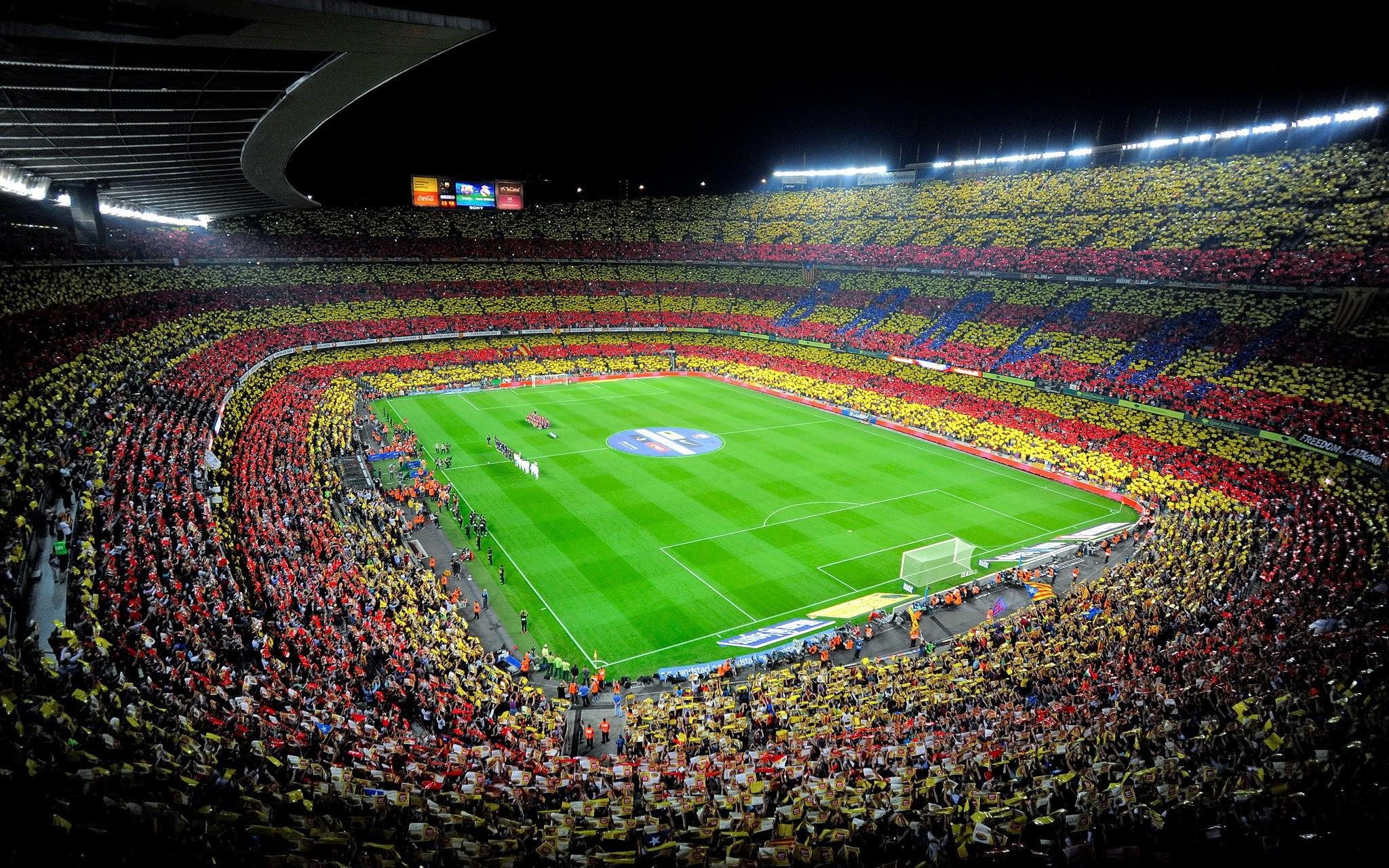 spain Camp Nou fc barcelona soccer stadium crowd wallpaper
