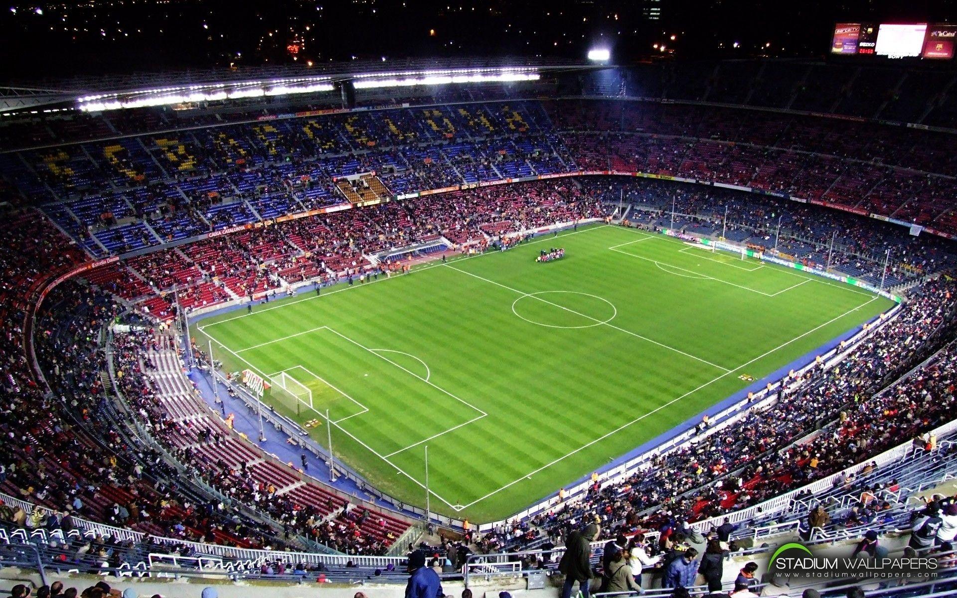 soccer, stadium, FC Barcelona, football field :: Wallpapers