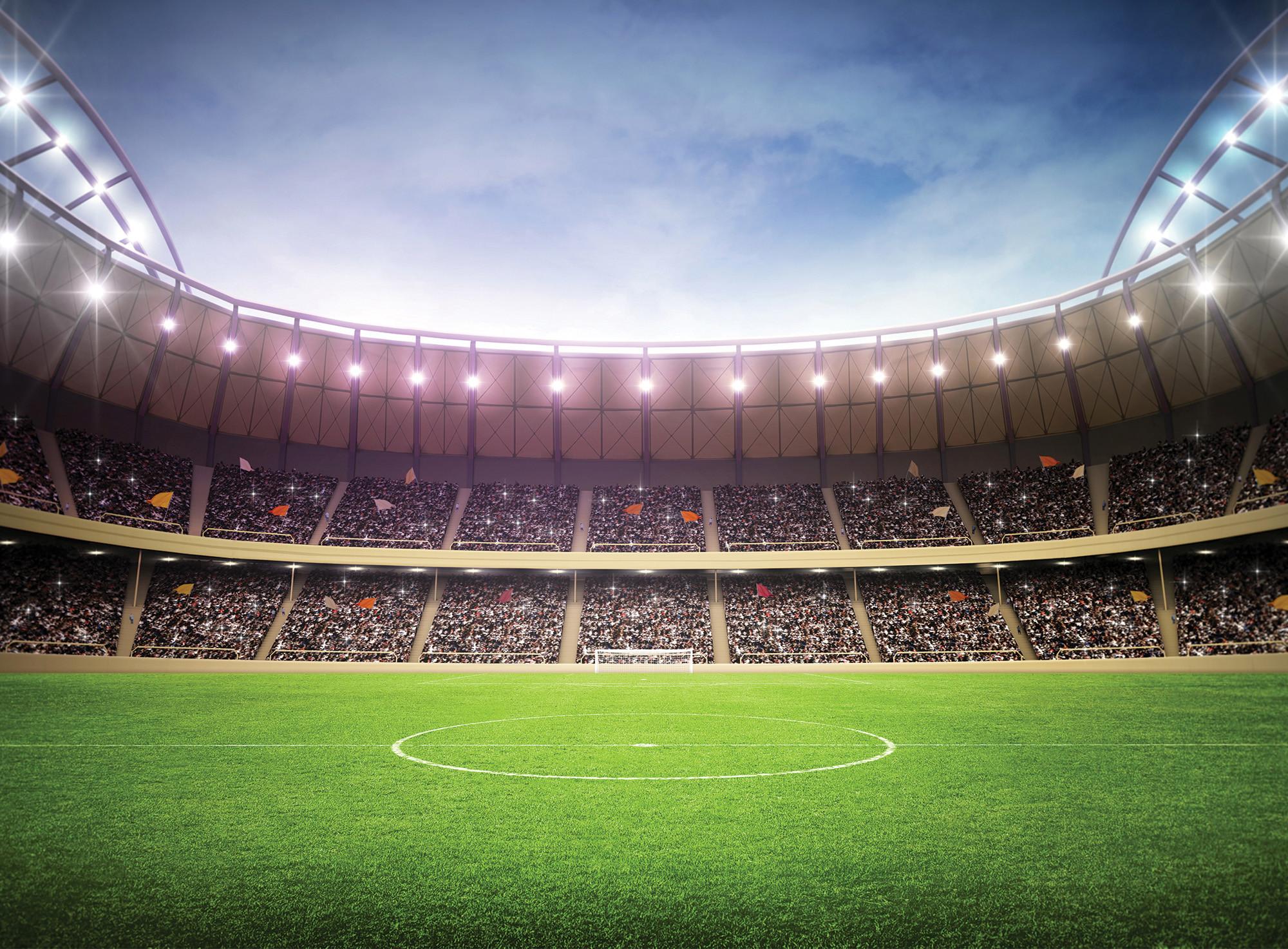 … football stadium mural