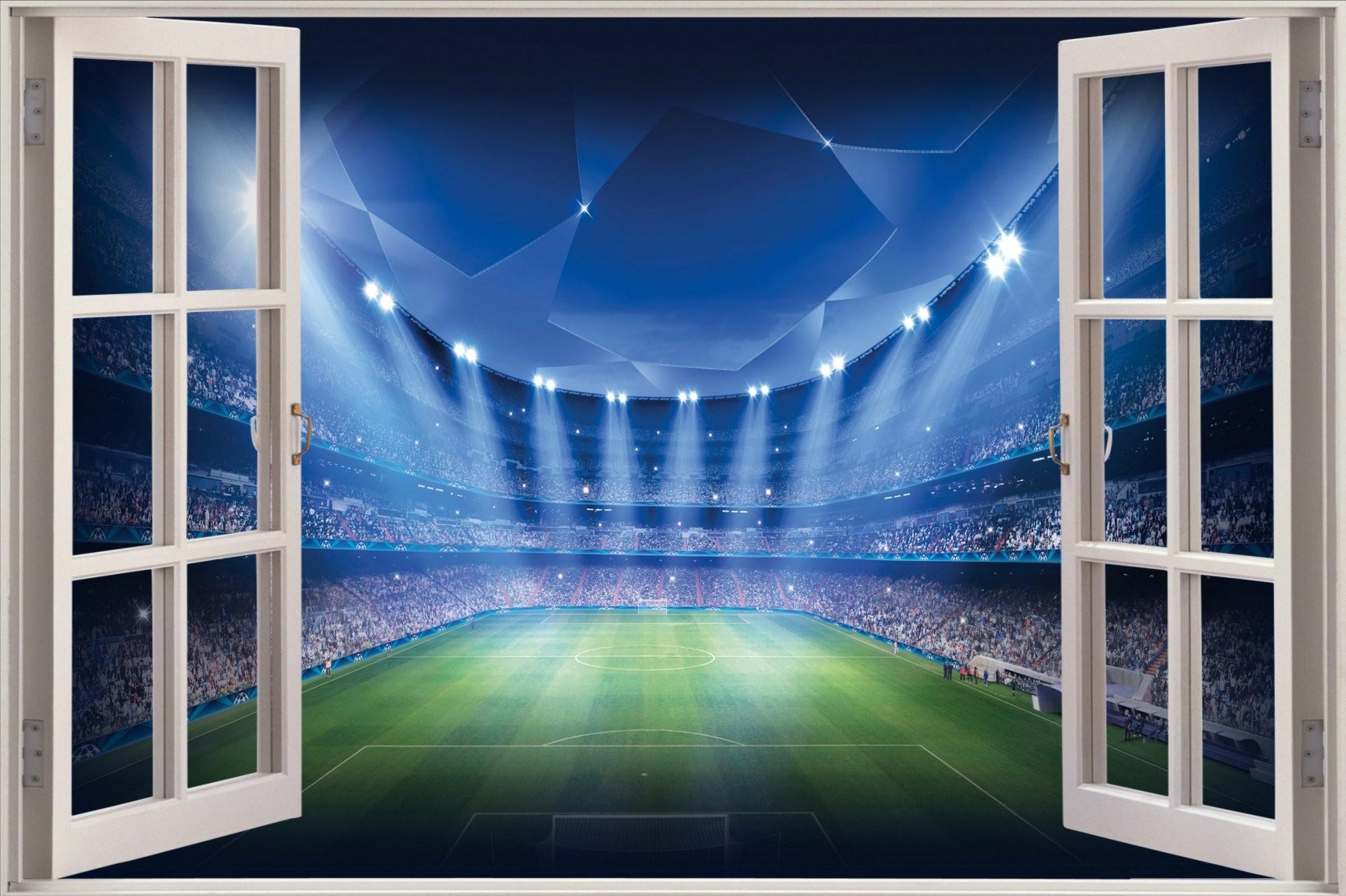 Stadium Floodlights Wallpaper Wall Decor. soccer bedroom ideas photo 7  Soccer bedroom ideas Bedroom at Real Estate Football Murals For.