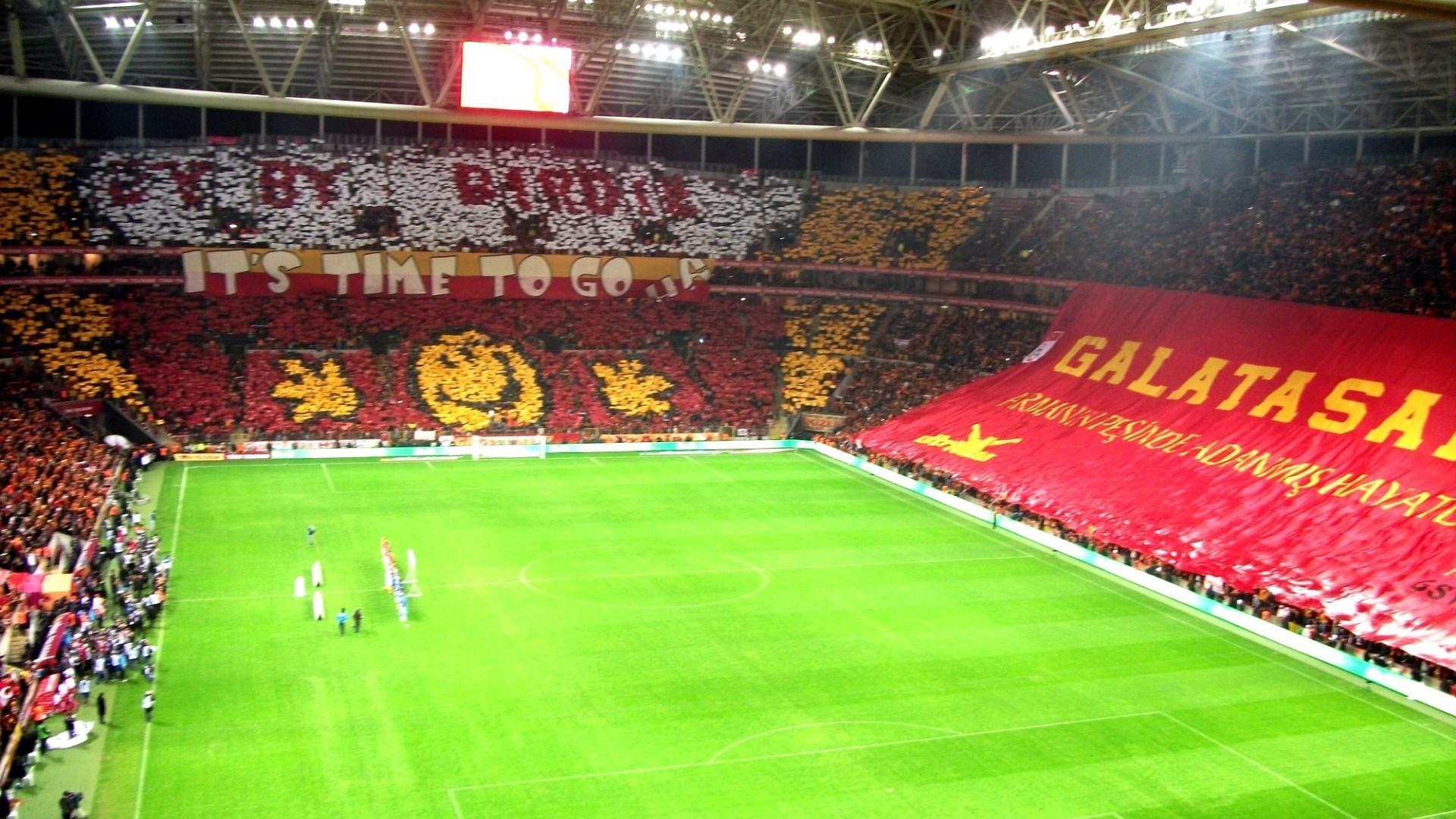 Soccer stadium galatasaray sk tt arena football fans wallpaper