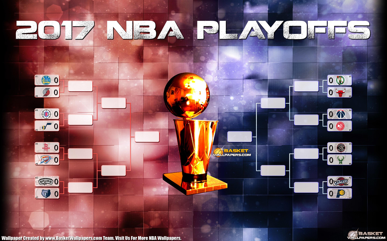 2017 NBA Playoffs Bracket Wallpaper