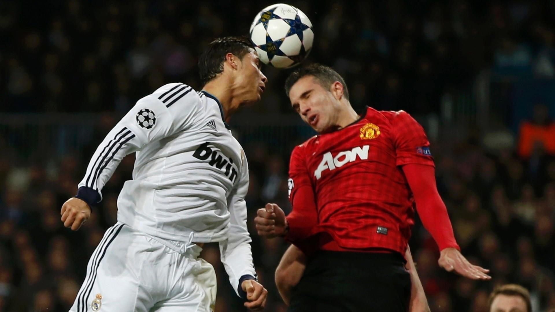 Playing a headers vs Robin Van Persie(Dutch footballer) who plays as a  striker