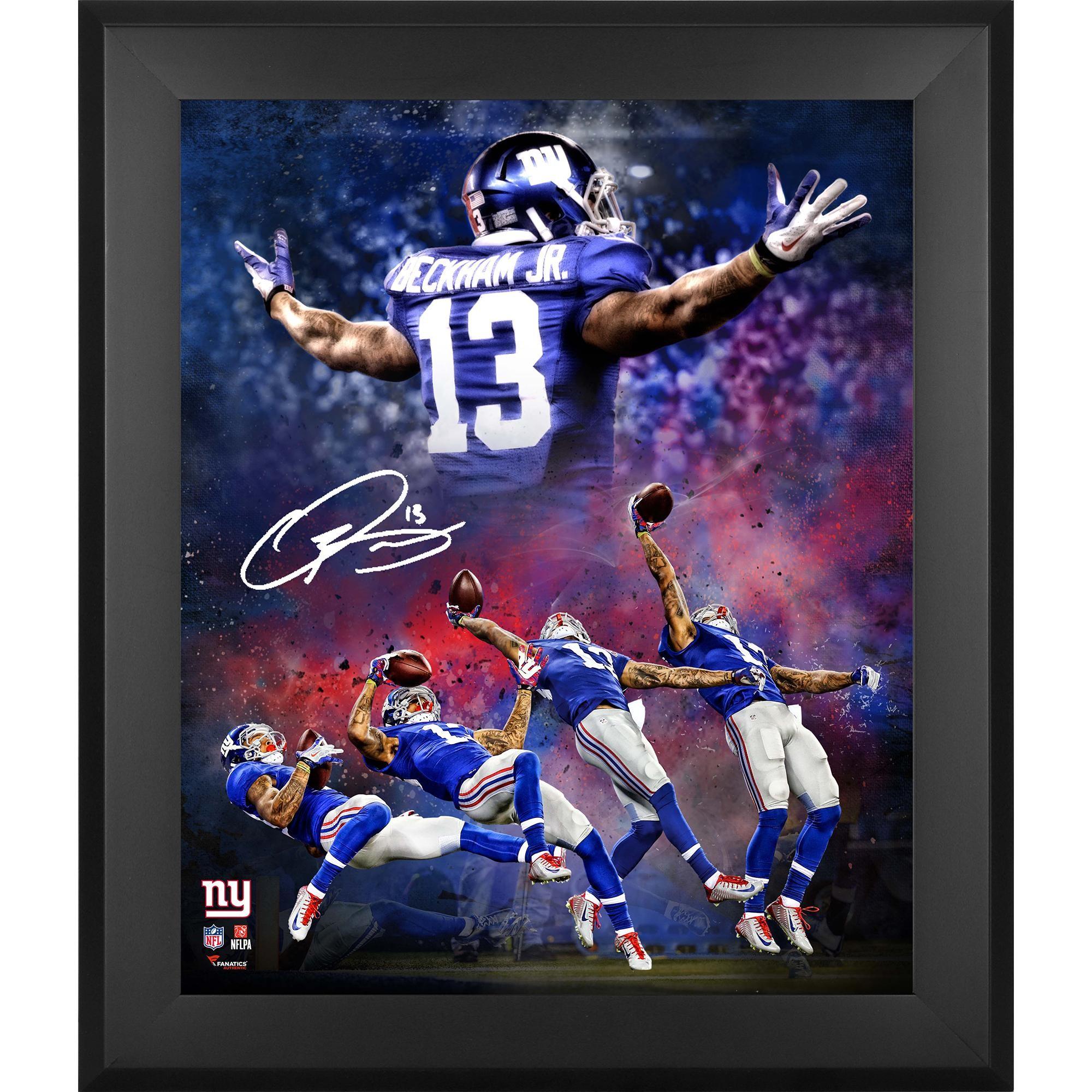 Odell Beckham Jr. Giants 20×24 Signed NFL Photos