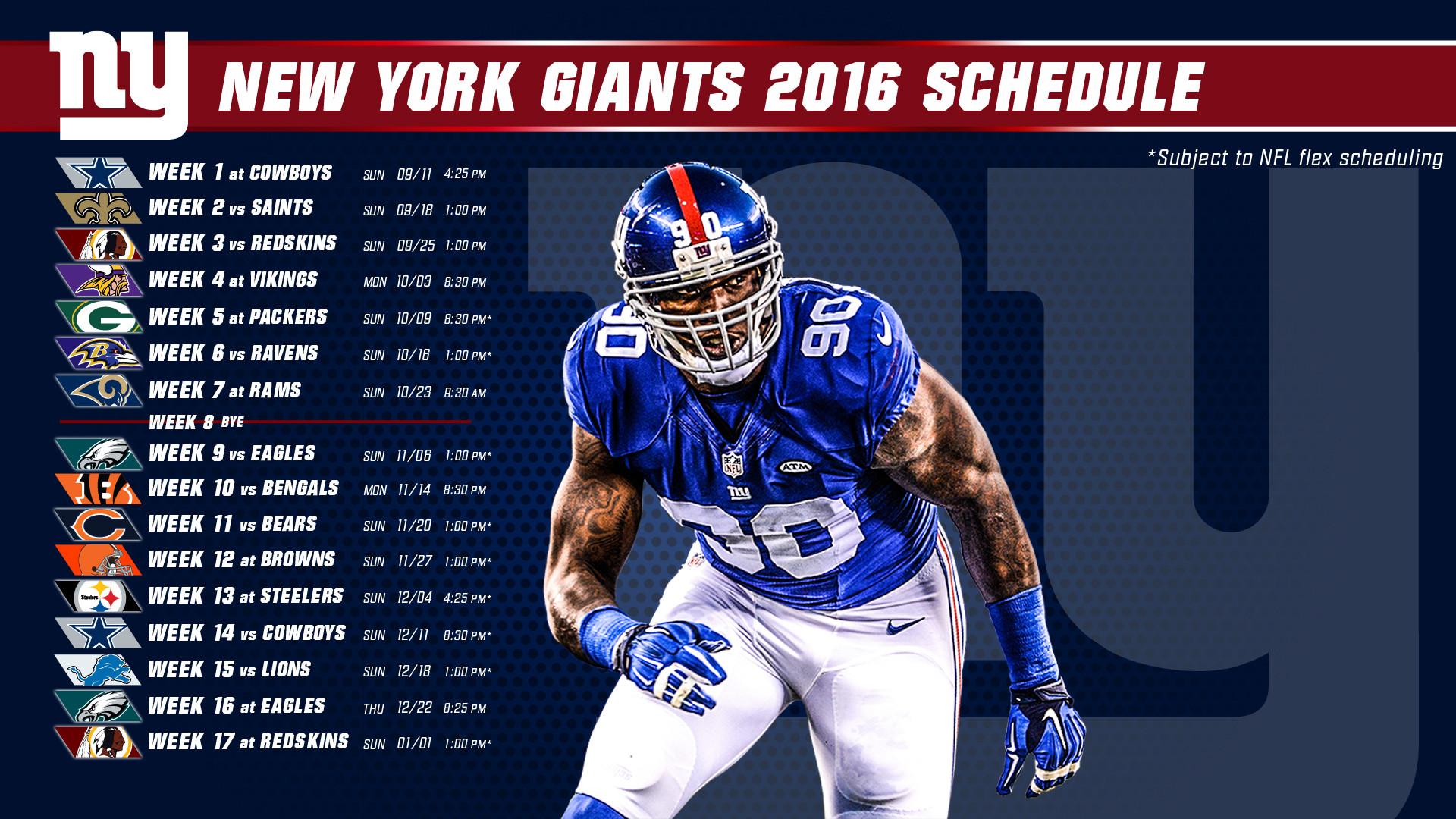 <b>NY Giants</b> 2016   <b>New York