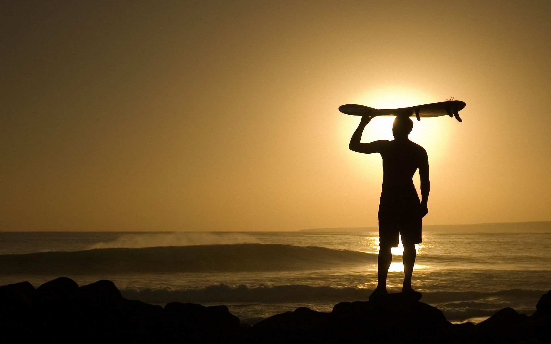 Surfing at sunset Wallpapers, Wallpapers .