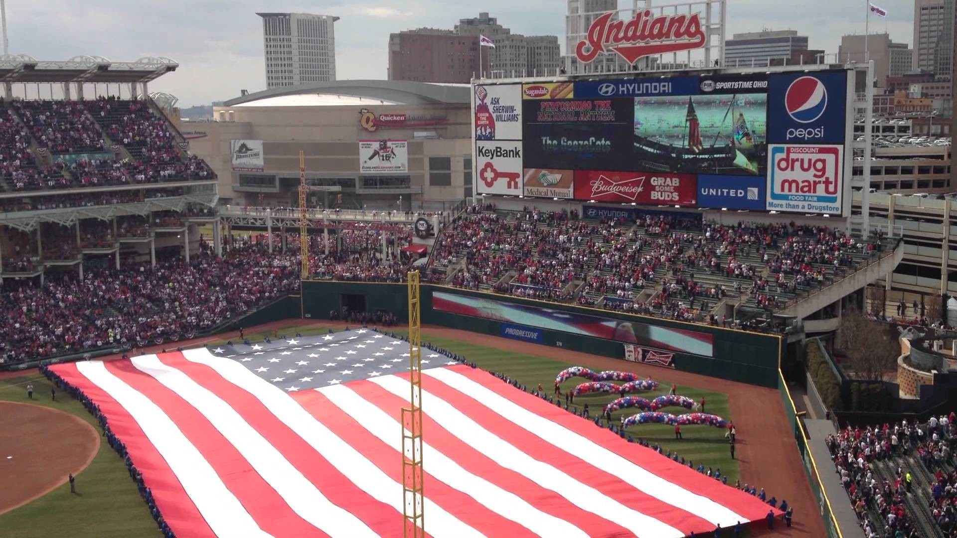 The National Anthem At The 2013 Cleveland Indians Home Opener