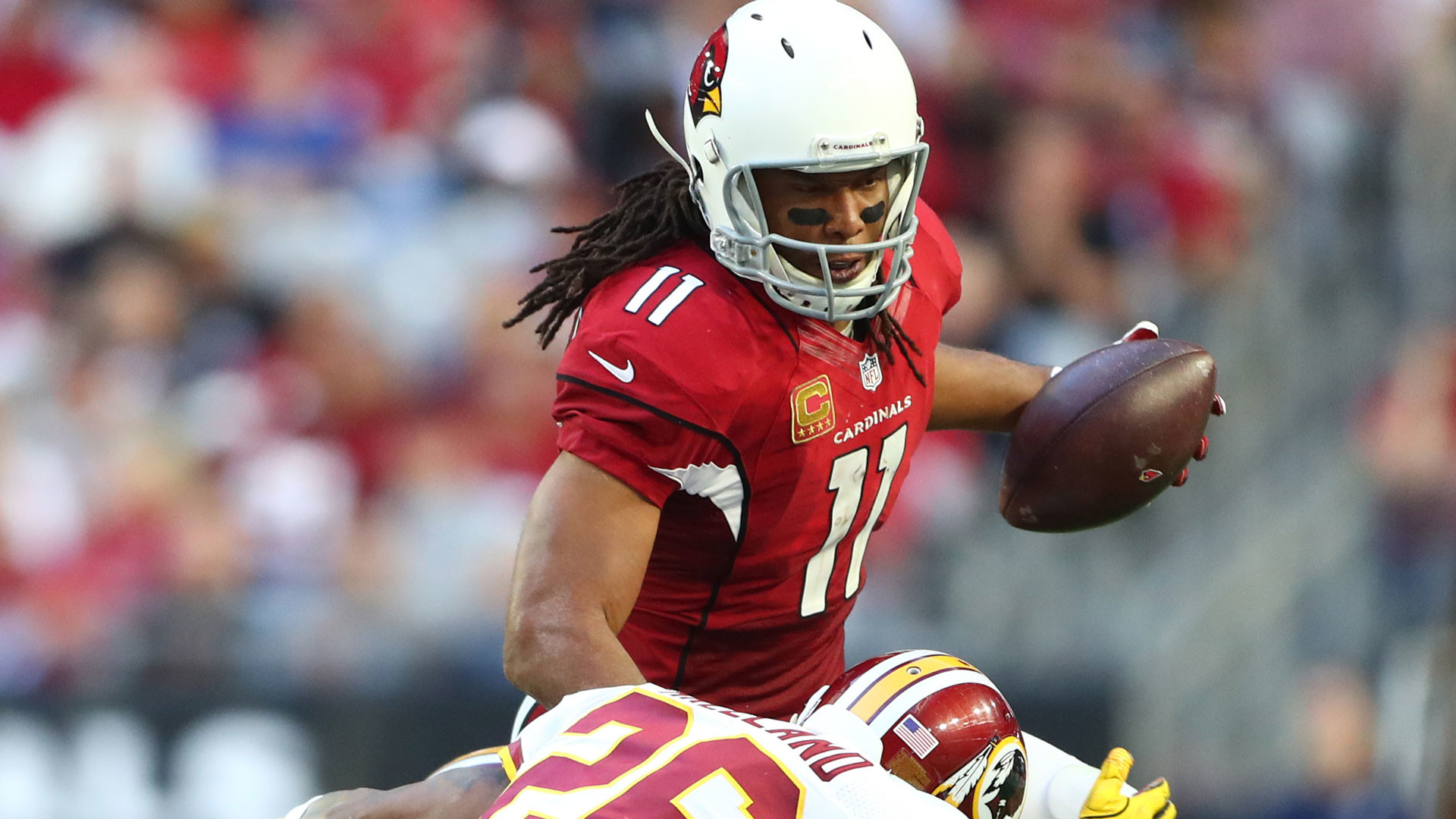 Larry Fitzgerald inches closer to Jerry Rice's receptions record   NBCS Bay  Area