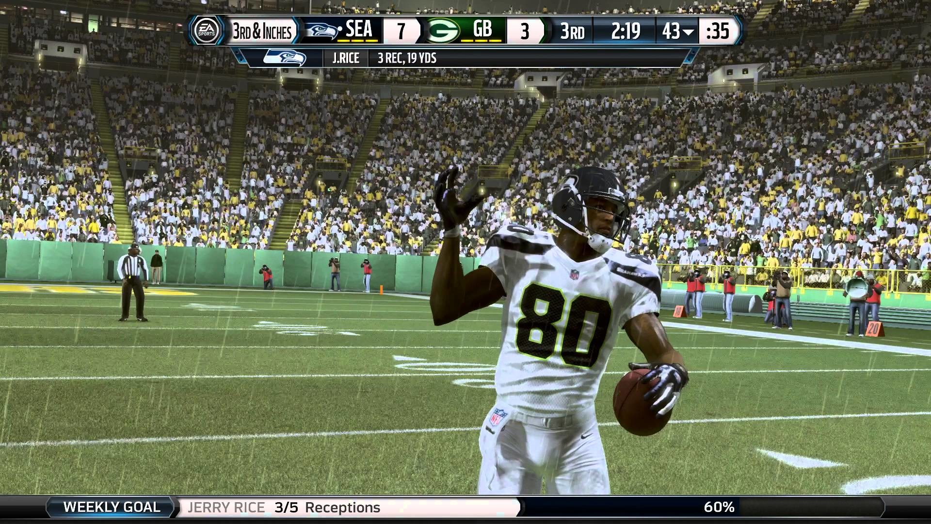 Madden 16 Jerry Rice Seahawks Career Mode Ep 3 vs Packers