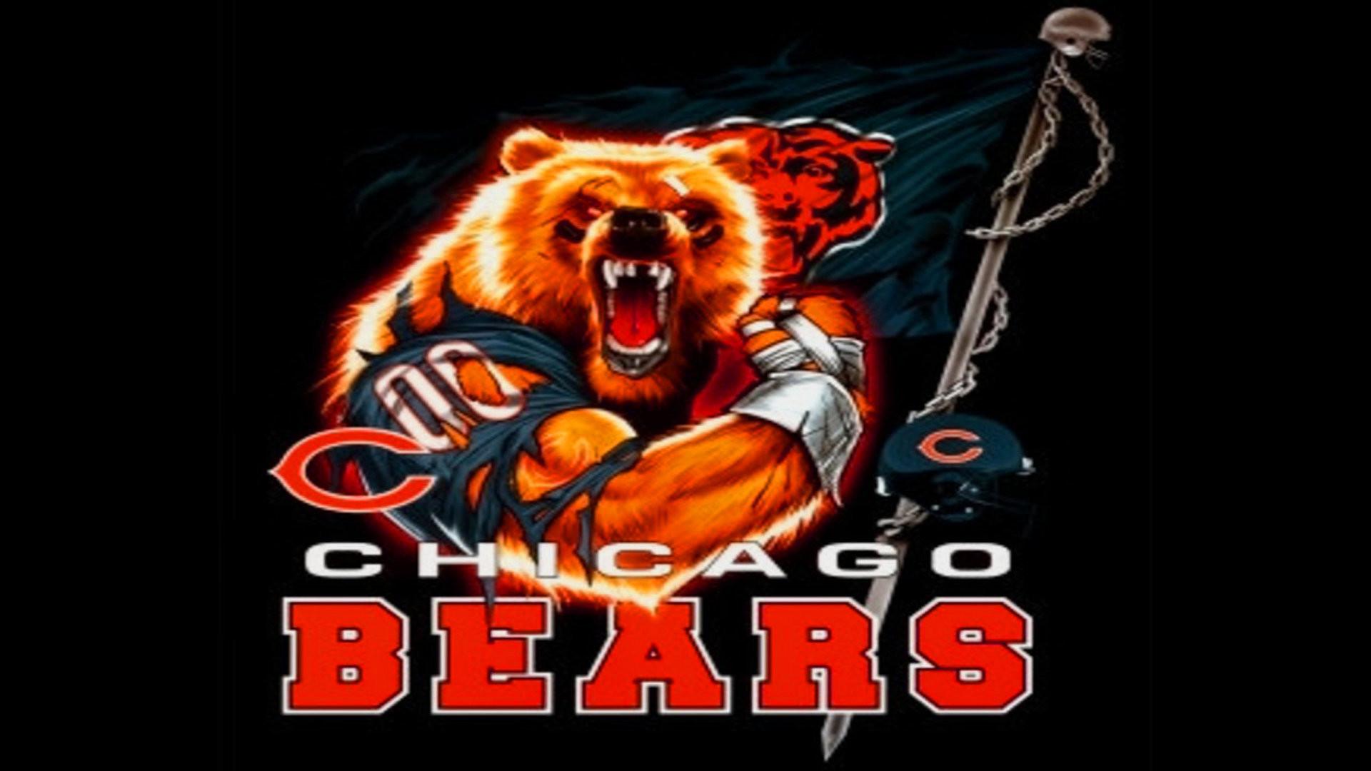 Chicago bears photos sports bag.