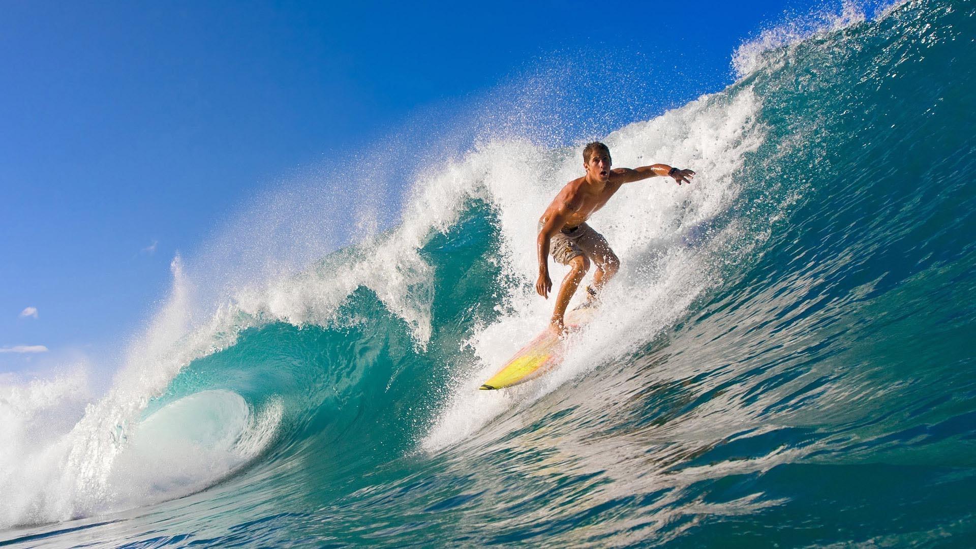 Surfing Wave HD Wallpaper. « »