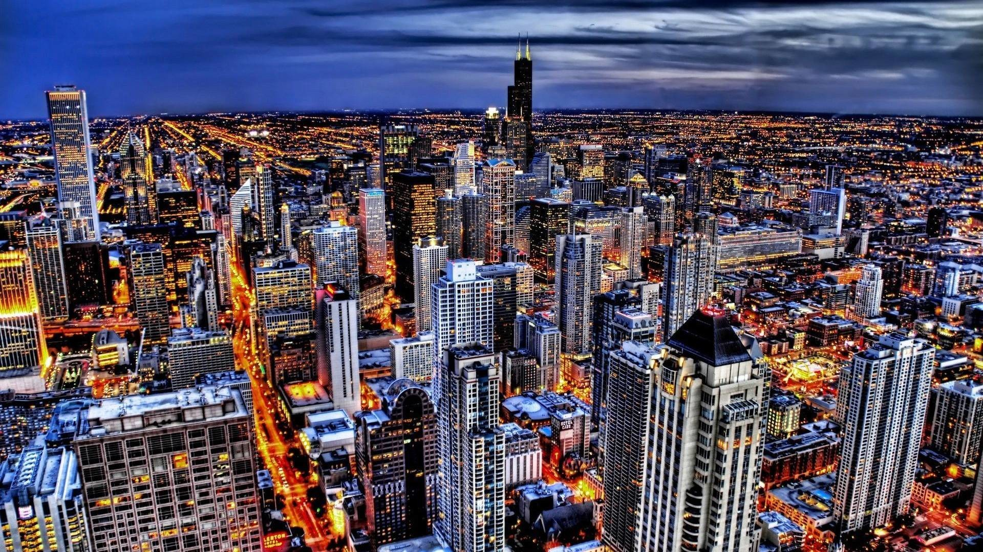 Wallpaper of old chicago Stock Free Images