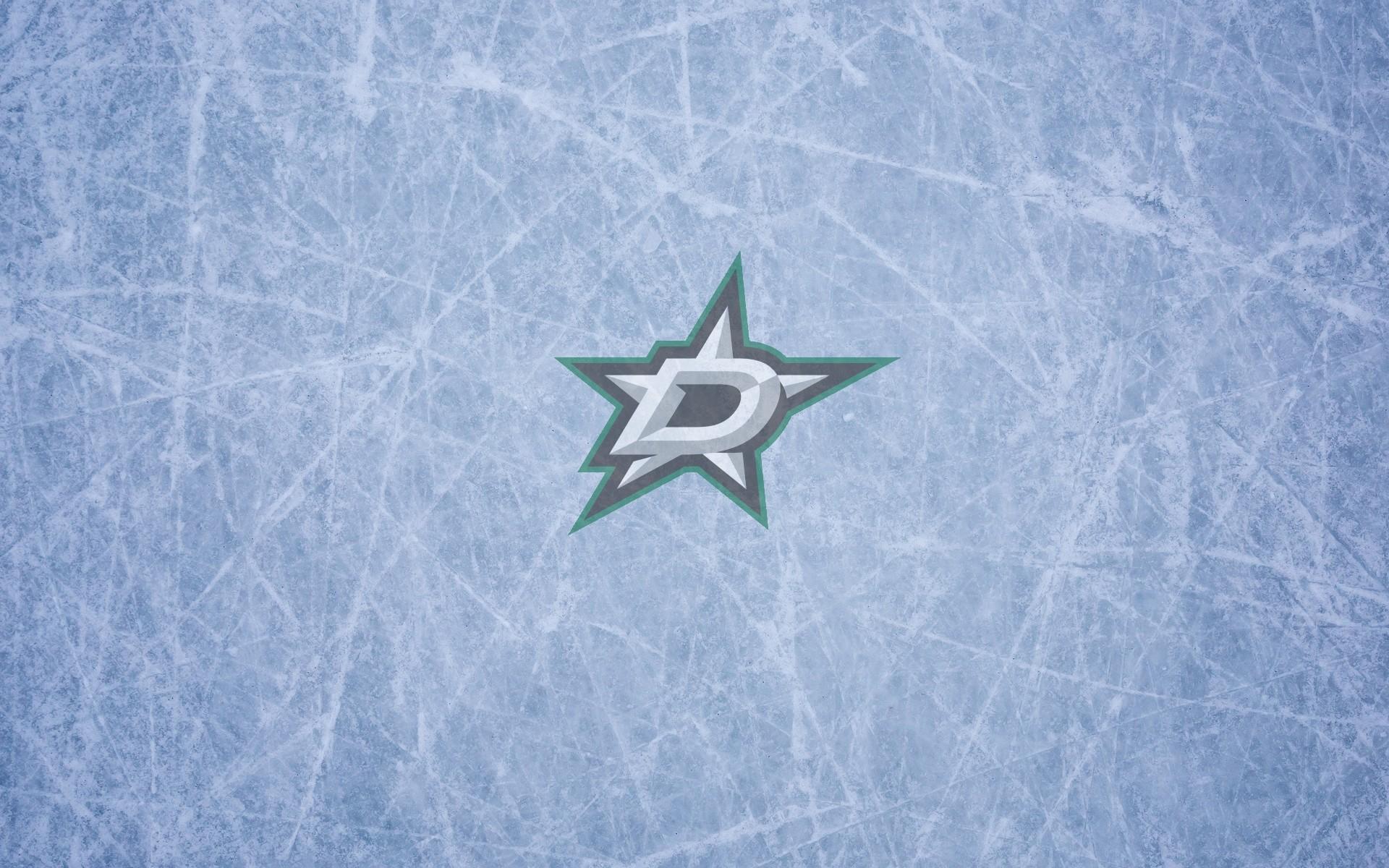 Dallas Stars wallpaper widescreen (ice and logo) 1920×1200, 16×10