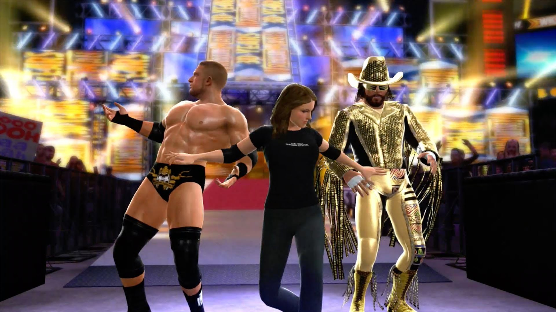 WWE 2K14 : Macho Man & Triple H (with Stephanie McMahon) Tag Team Entrance  – YouTube