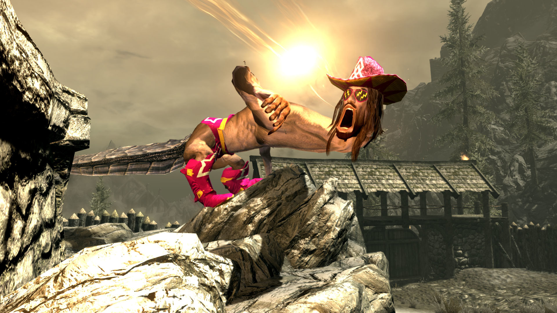 The life and times of Skyrim's best dragon: Macho Man Randy Savage   PC  Gamer